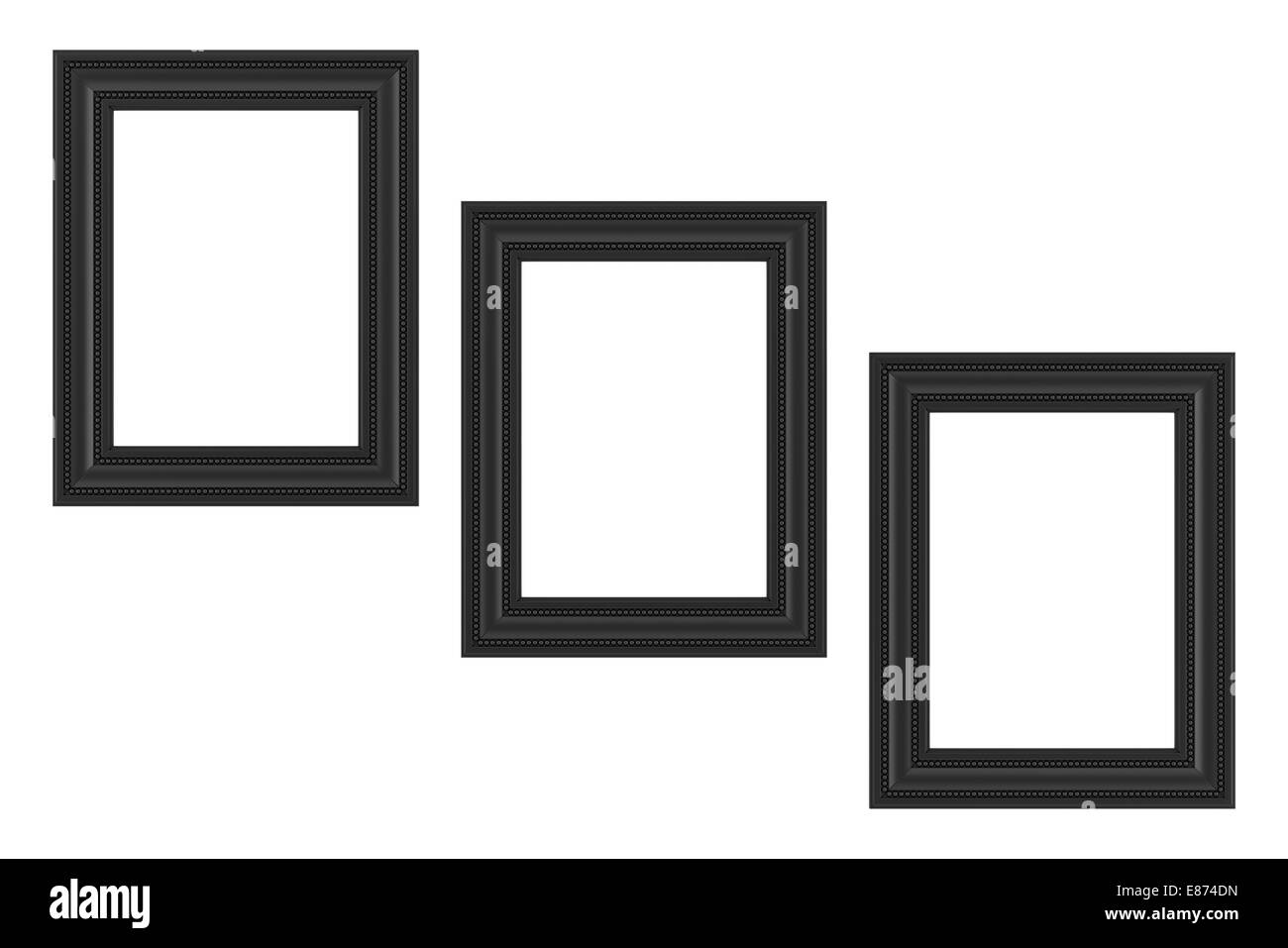 three black frames isolated on white background Stock Photo ...