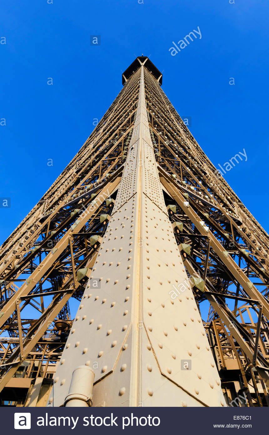 Detail of the structure of Eiffel tower - Stock Image