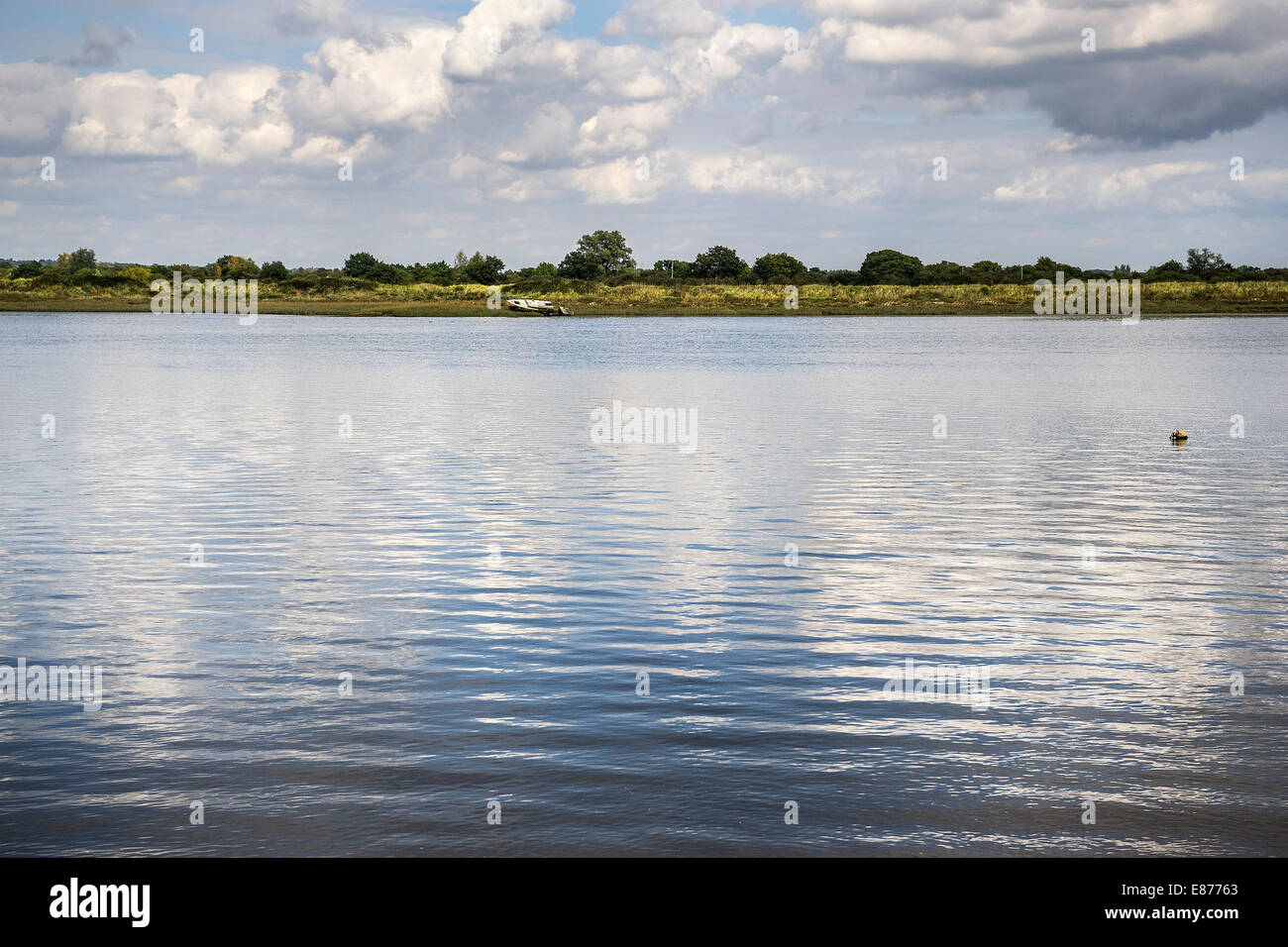 The East bank of the Blackwater River in Essex. - Stock Image