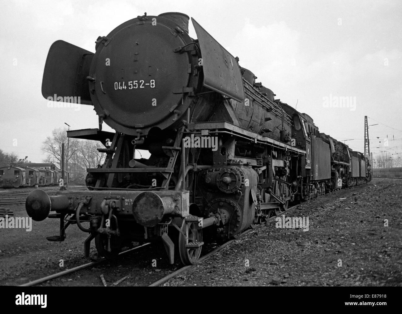 Gelsenkirchen, Germany, steam locomotives parked in BW Gelsenkirchen-Bismark Stock Photo