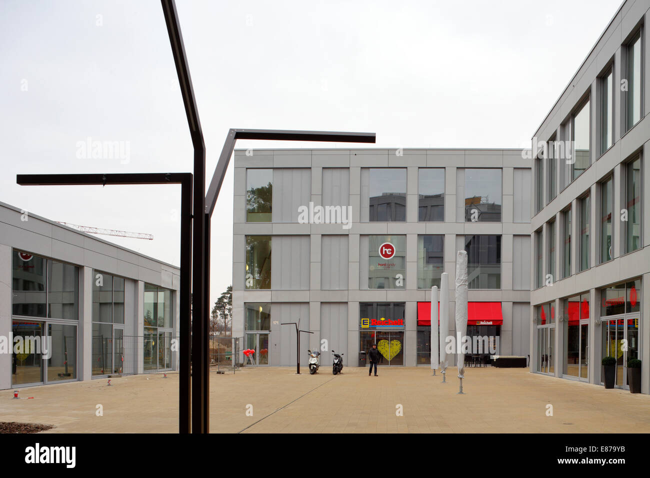 berlin germany shopping center truman plaza in clayallee in stock photo 73920207 alamy. Black Bedroom Furniture Sets. Home Design Ideas