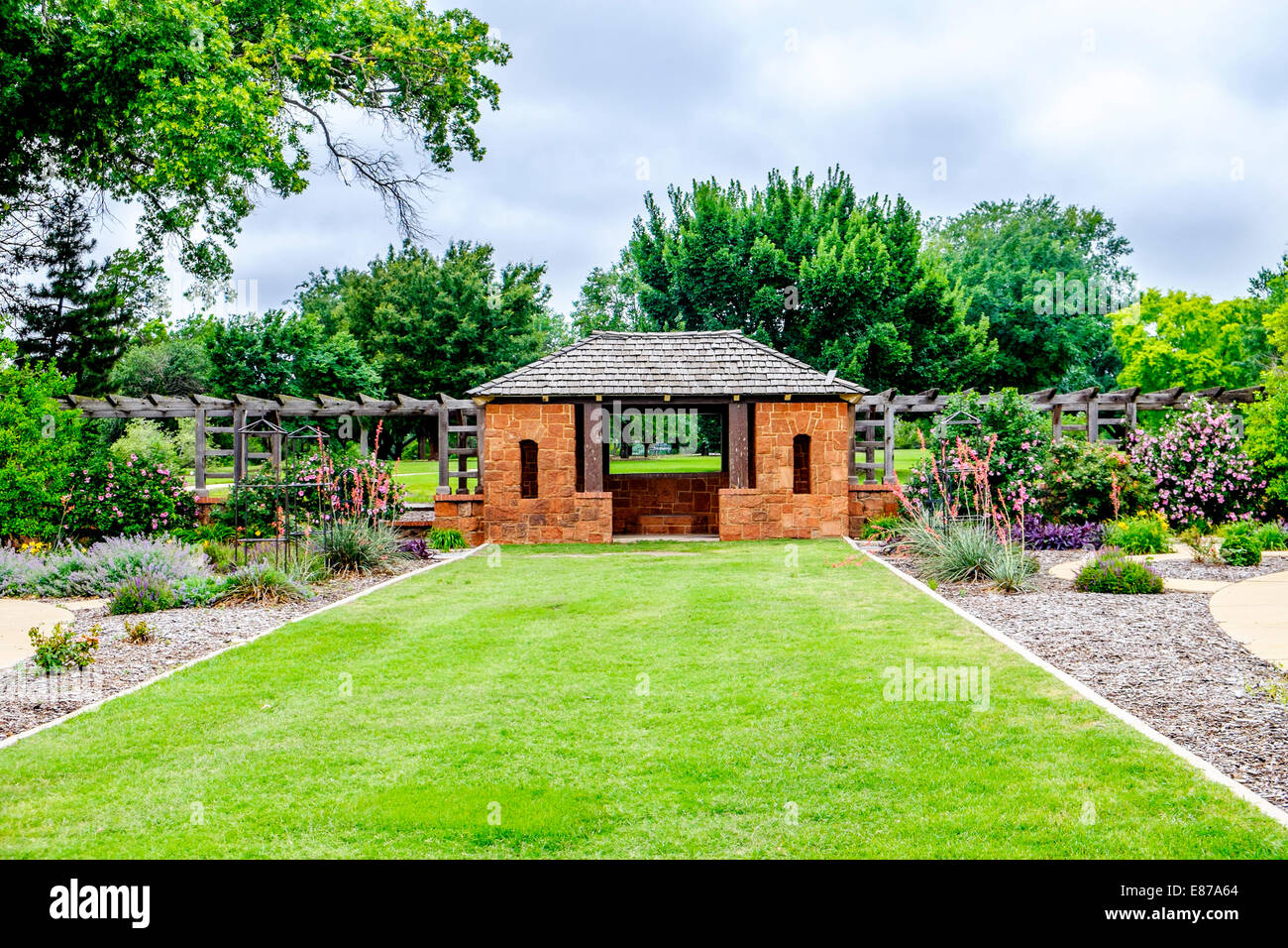 Rogers Garden Stone A stone gazebo with floral plantings in will rogers park in oklahoma a stone gazebo with floral plantings in will rogers park in oklahoma city oklahoma usa workwithnaturefo