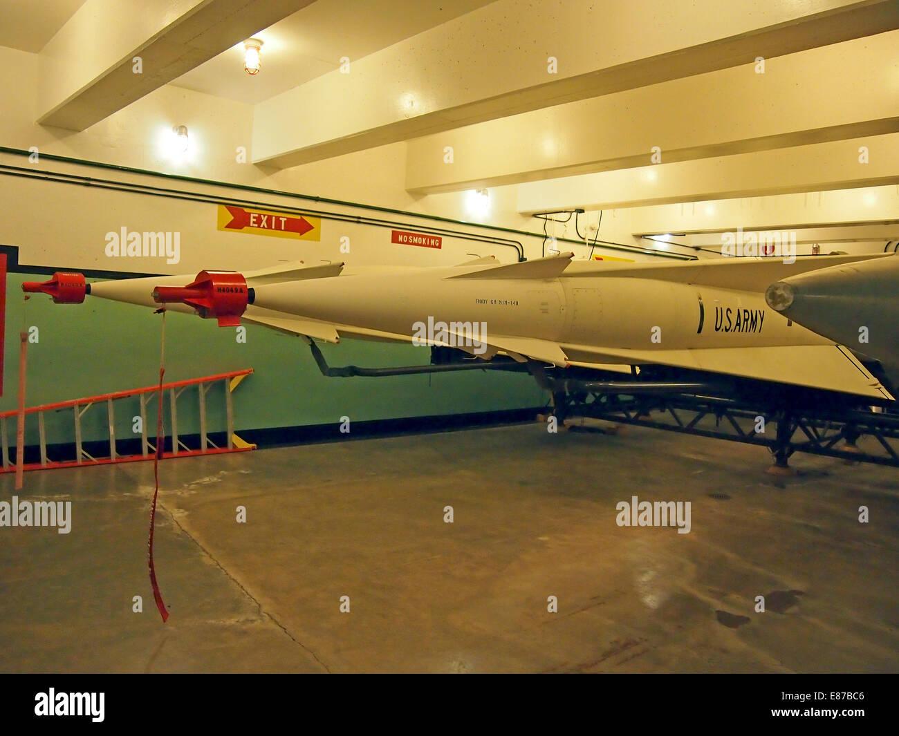 Nike Ajax Missiles,  subsurface magazine, California, USA - Stock Image
