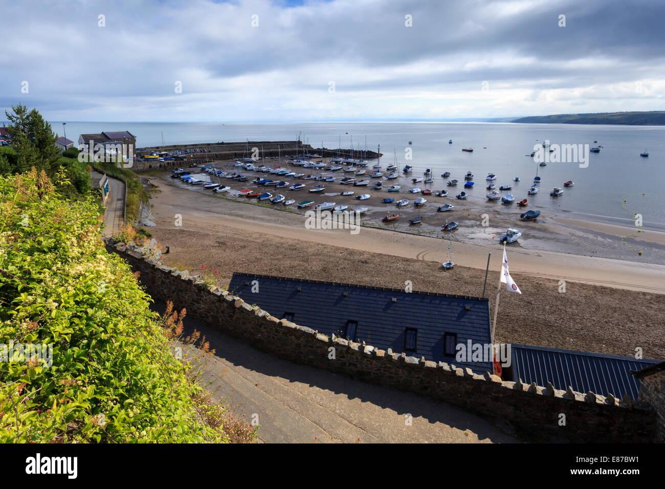 Newquay Harbour, Ceredigion - Stock Image