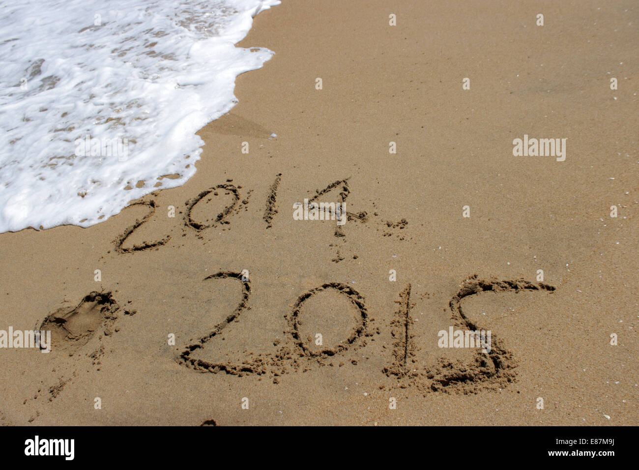 New Year 2014-2015 wish - Stock Image