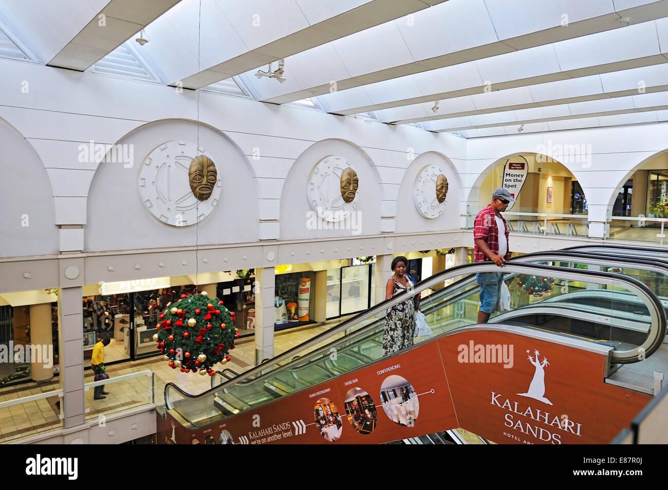 Shopping centre, Windhoek, Namibia - Stock Image