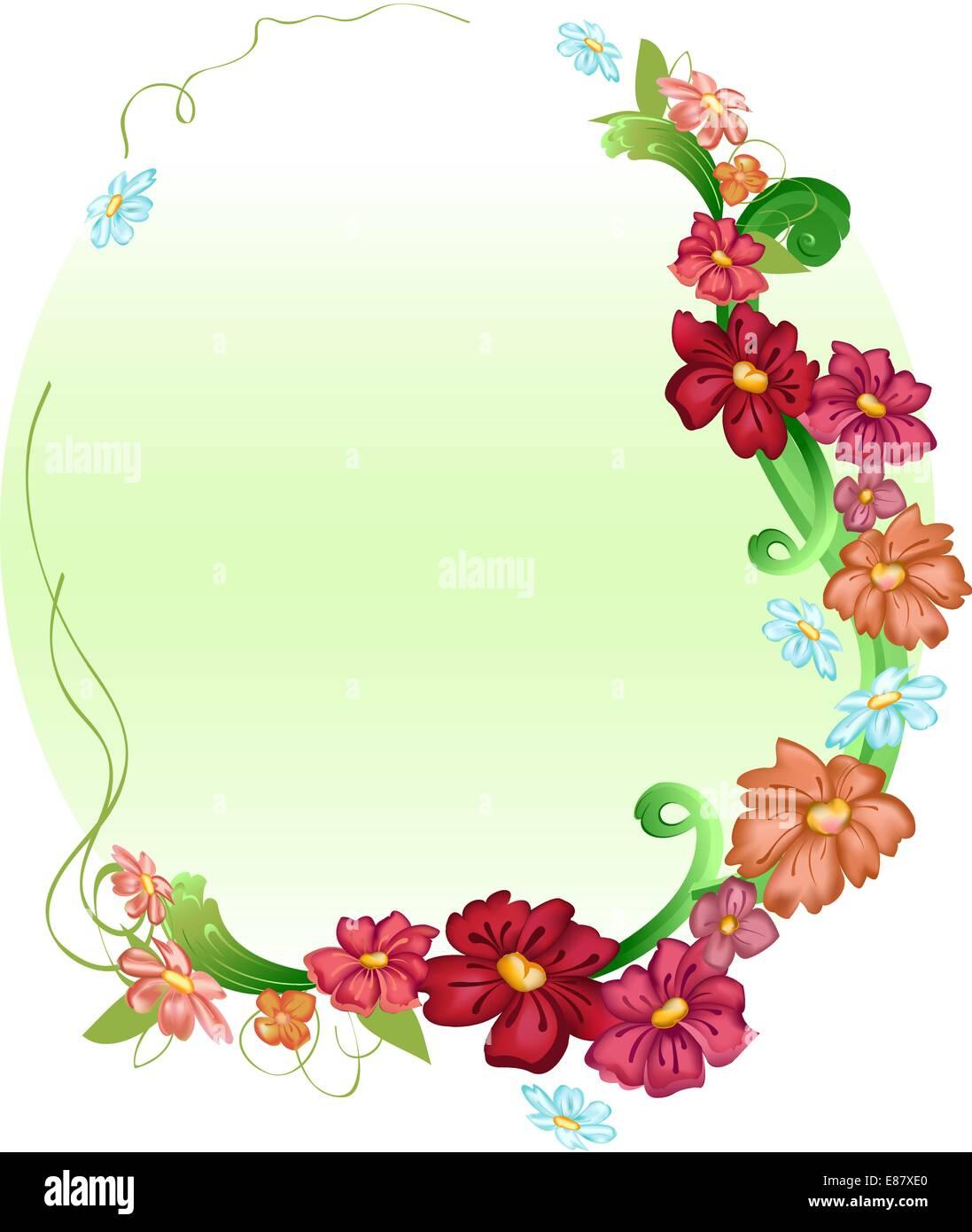 Vector illustraition of elegant floral frames Stock Vector Art ...
