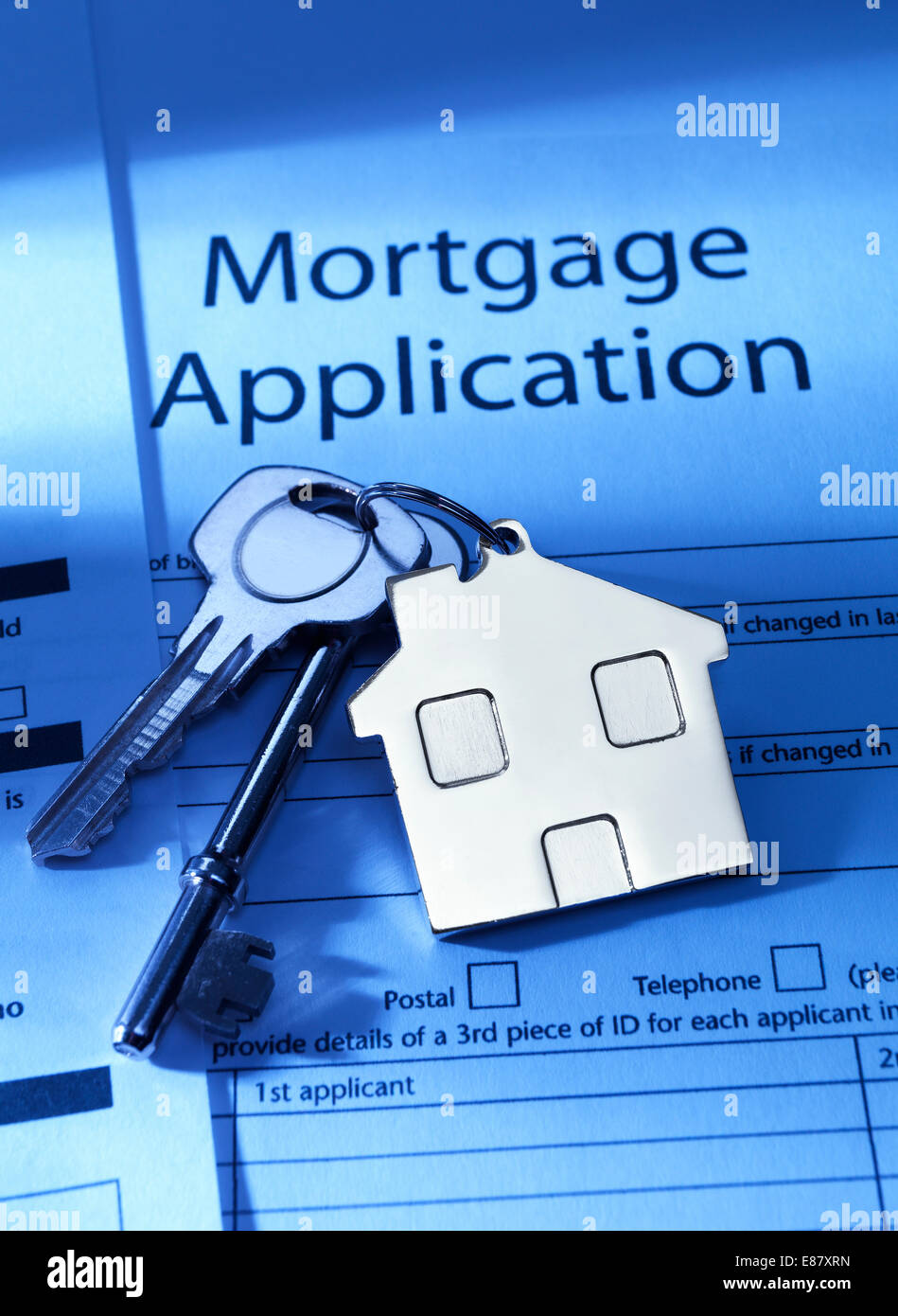Mortgage Application to go - Stock Image