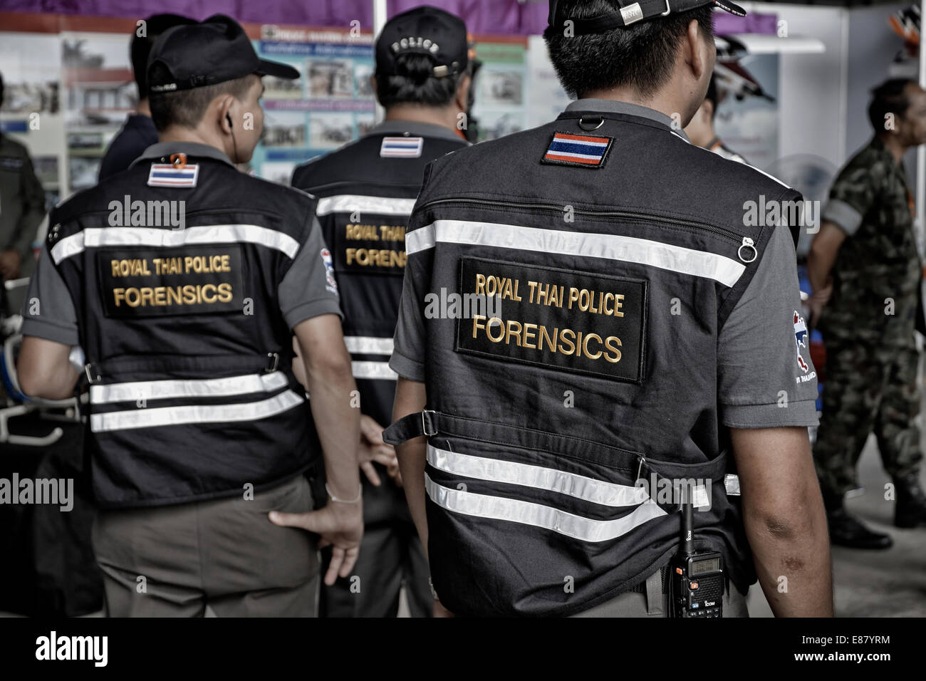 Forensic Officer Thai Police Forensic Officers Thailand S E Asia Stock Photo Alamy