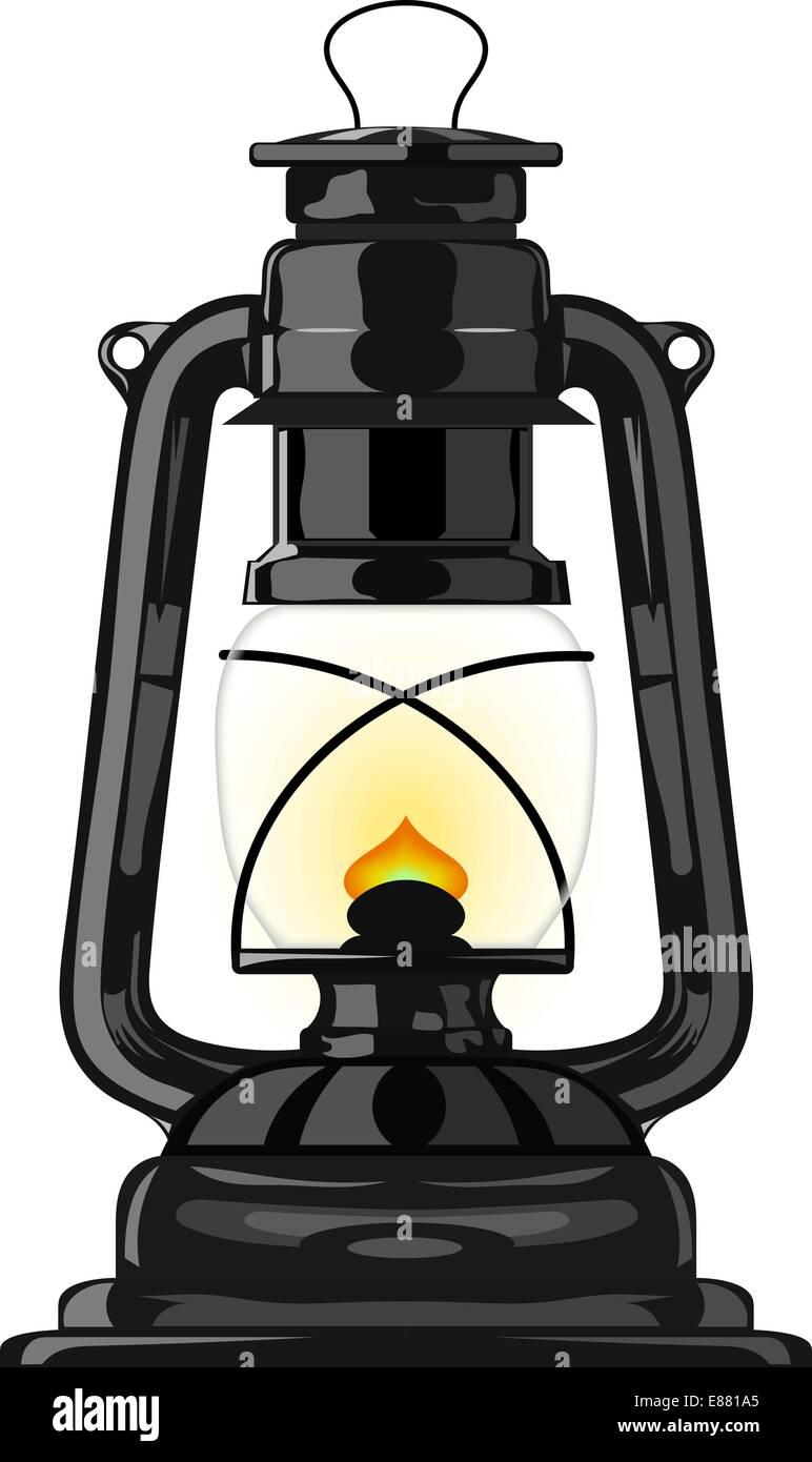 Old kerosene lamp. eps10 - Stock Vector