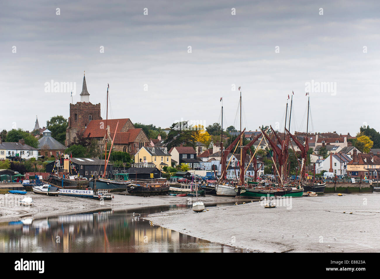 Hythe Quay in Maldon on the Blackwater River in Essex. - Stock Image