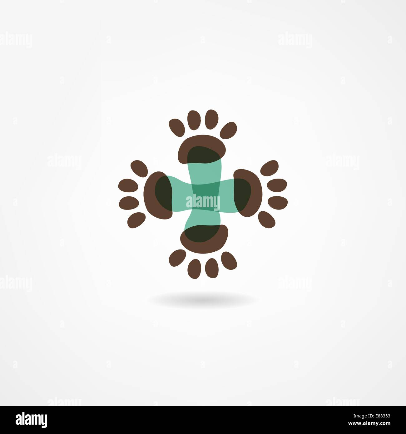 veterinarian icon - Stock Image
