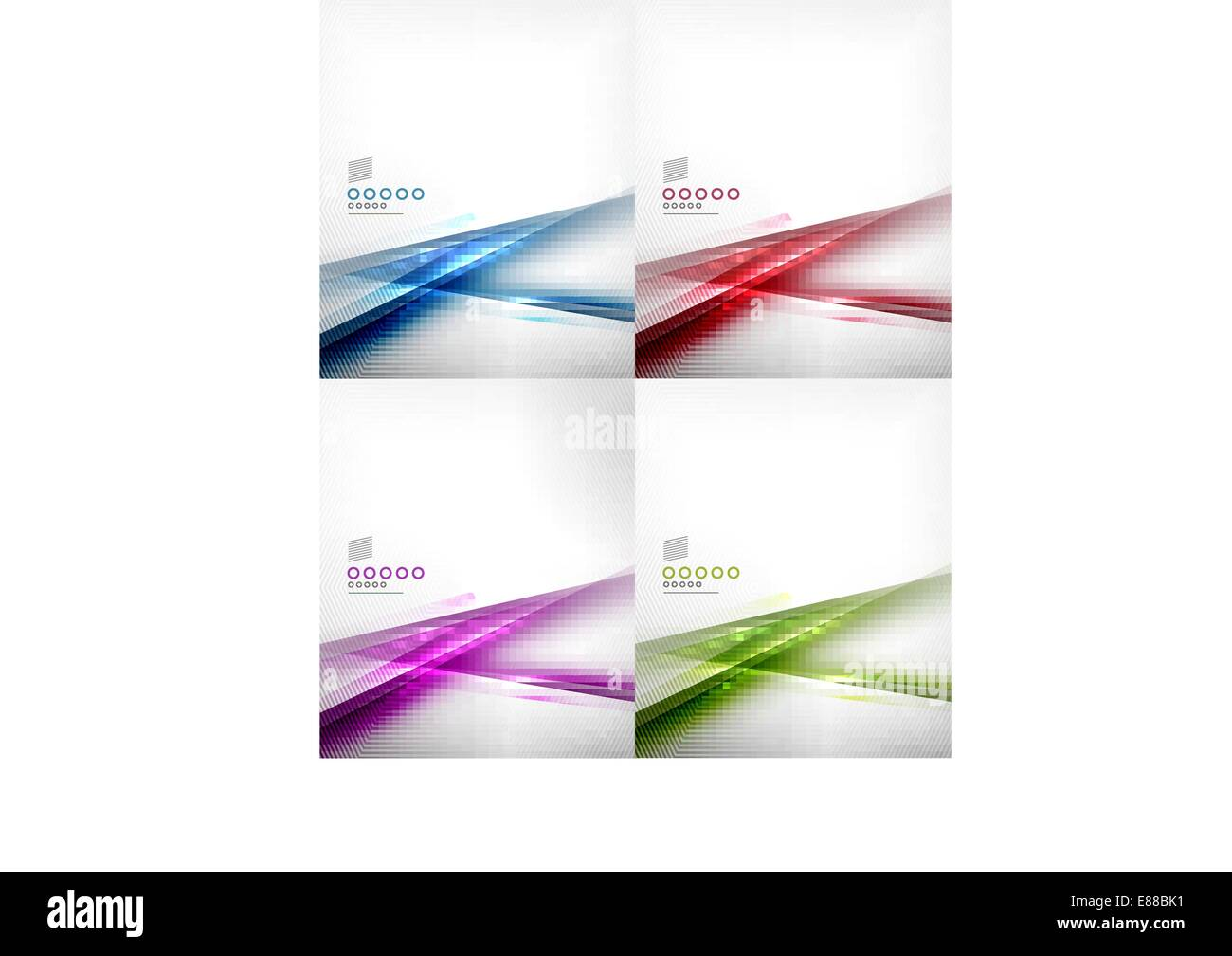 Set of abstract lines vector design templates for business Stock ...