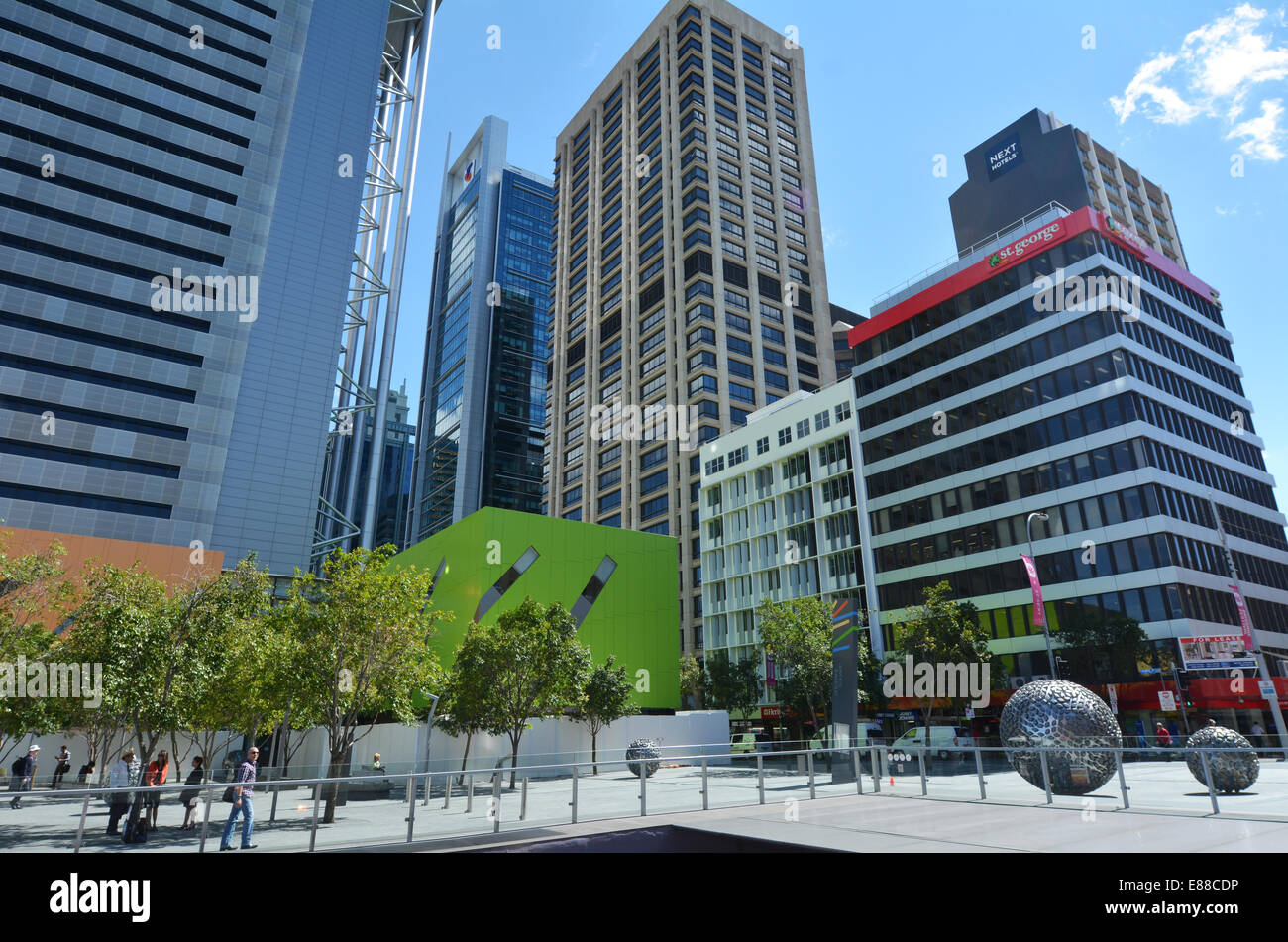 BRISBANE, AUS - SEP 26 2014:Visitors in Brisbane City.Brisbane is the capital and the 3rd most populous city in - Stock Image