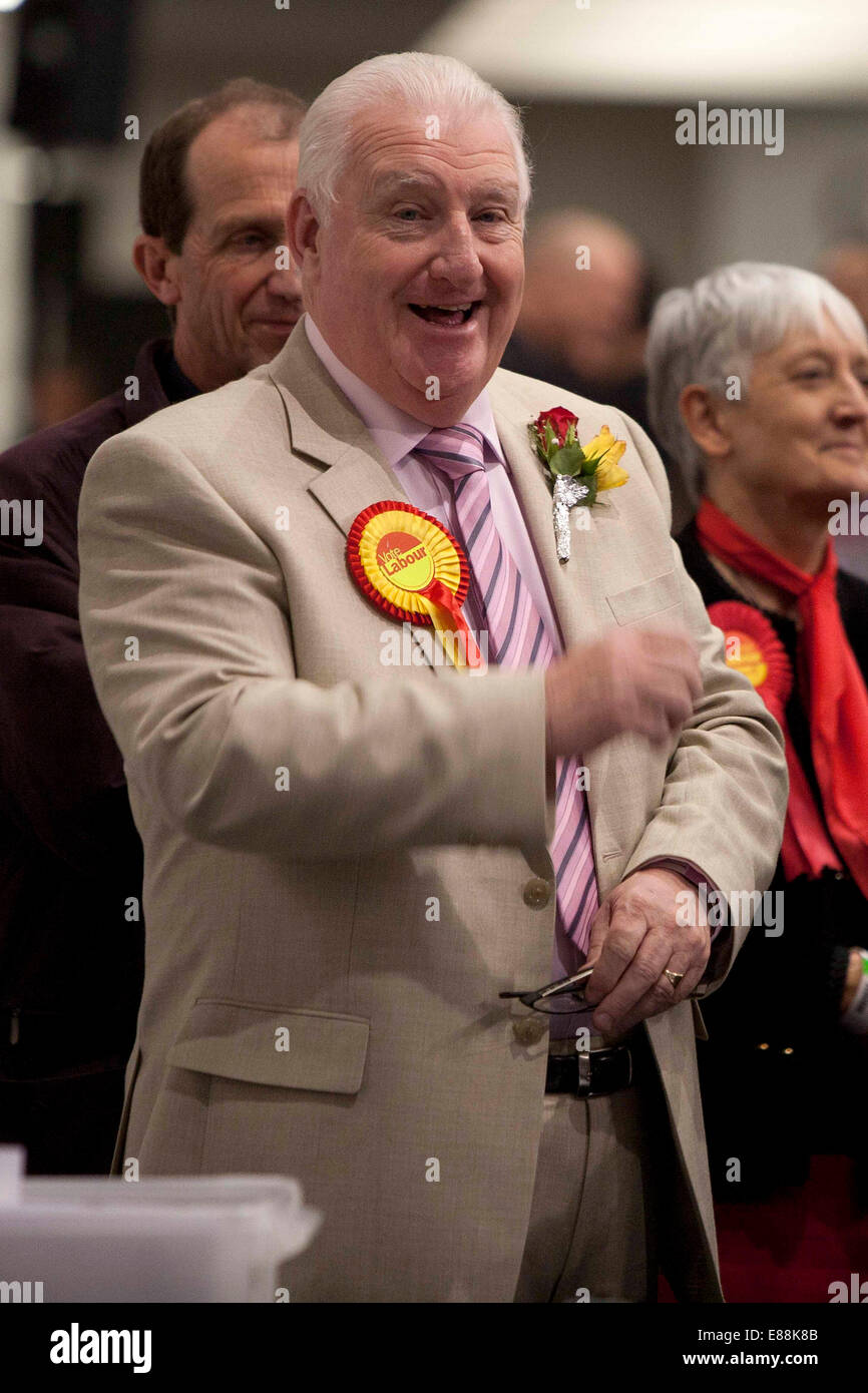 3/5/12 Local Election 2012 . City centre count at Manchester Paul Murphy  - Labour - Mostonl - Stock Image