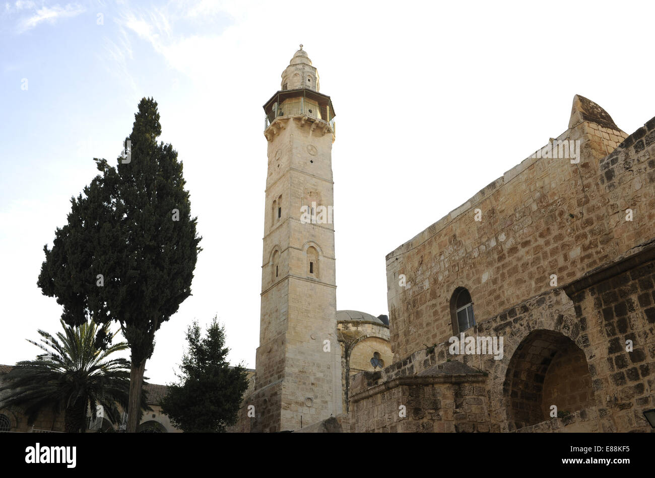 Israel. Jerusalem. Basilica of the Holy Sepulchre. Outside. View. - Stock Image