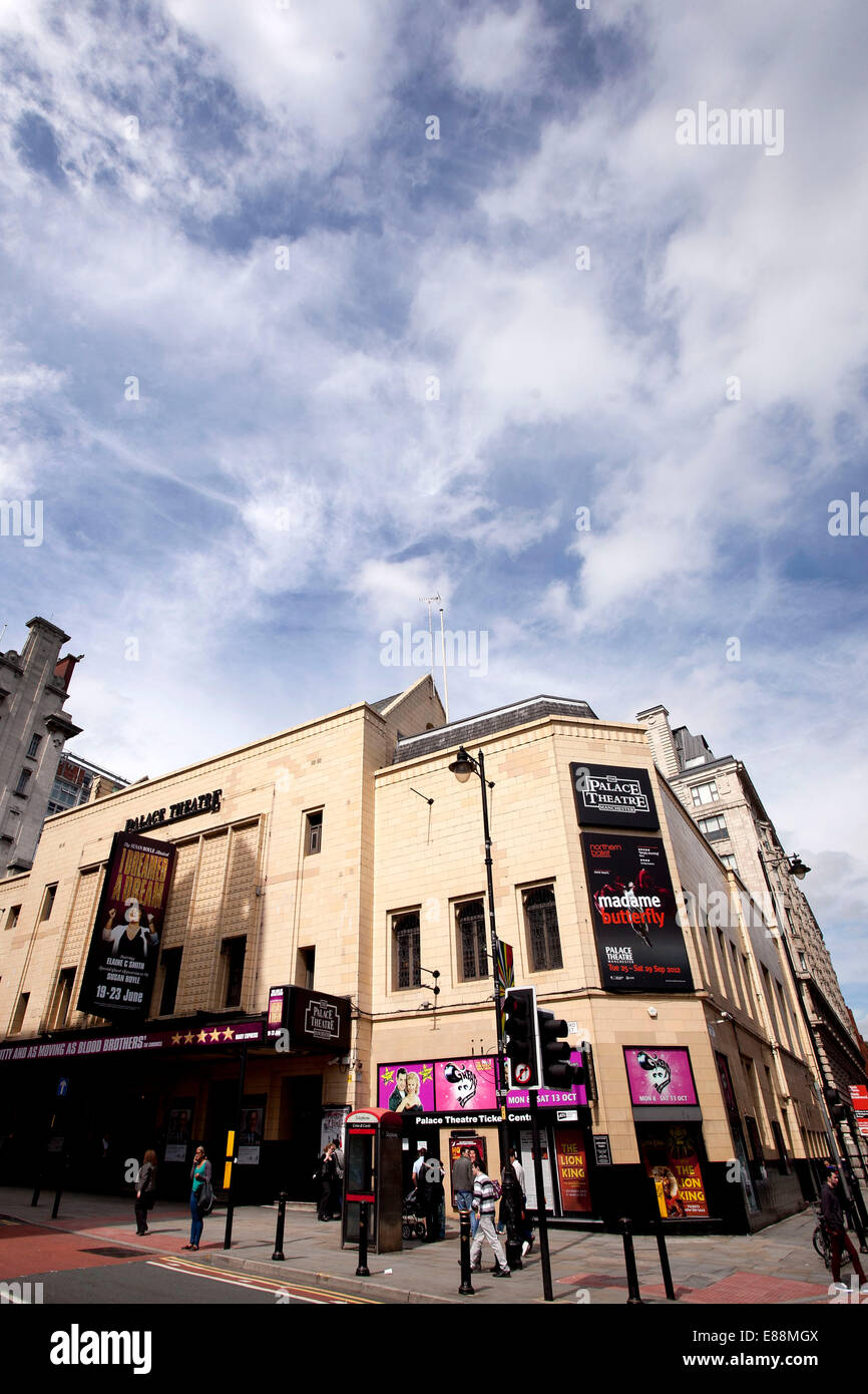 25/6/12 GV of the Palace Theatre , Oxford Road , Manchester . - Stock Image