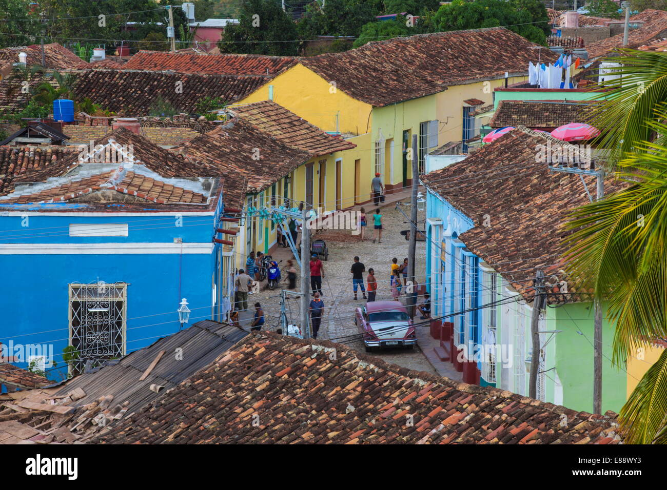 View of Trinidad, Sancti Spiritus Province, Cuba, West Indies, Caribbean, Central America - Stock Image