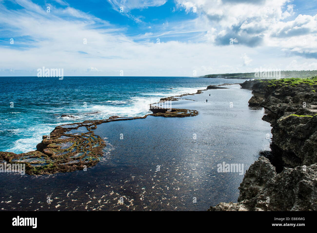 Mapu'a 'a Vaea Blowholes, Tongatapu, Tonga, South Pacific, Pacific - Stock Image