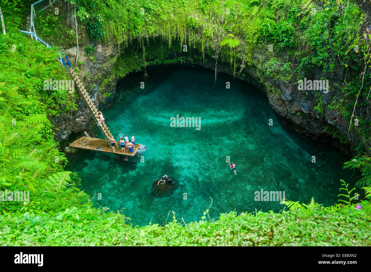 To Sua ocean trench in Upolu, Samoa, South Pacific, Pacific - Stock Image