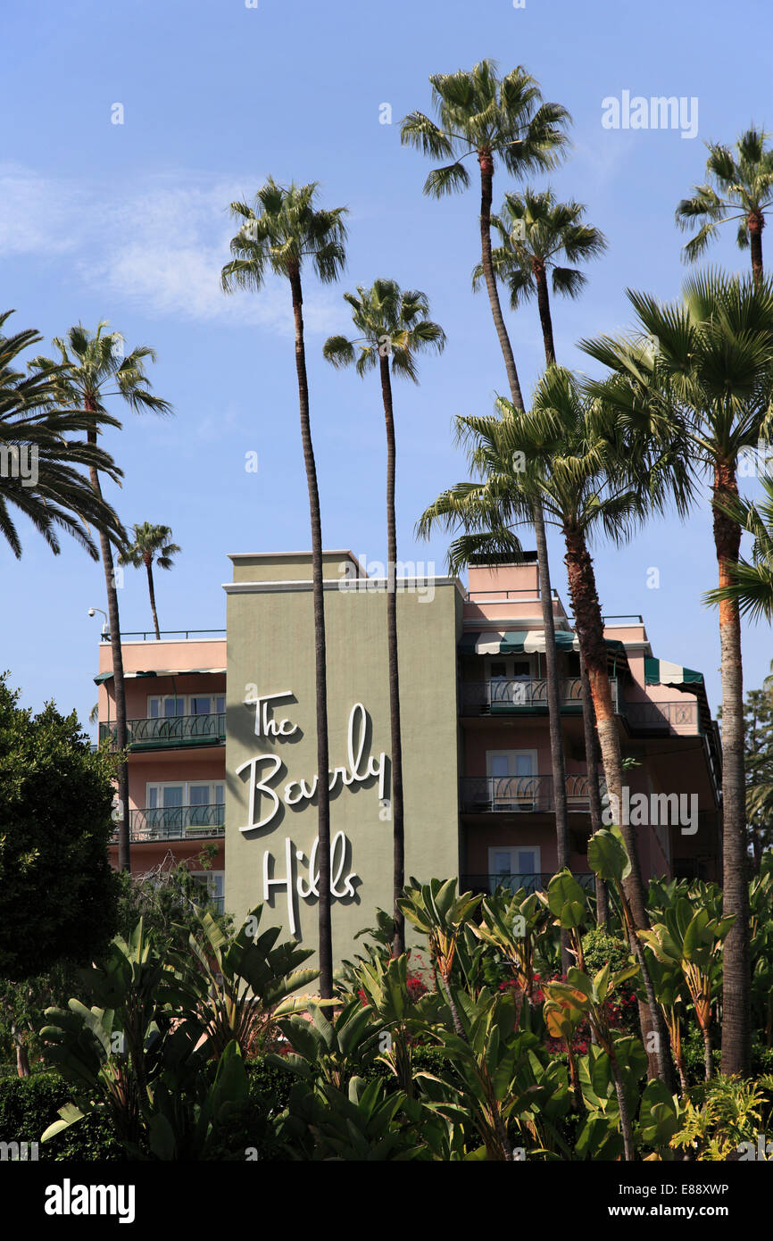Beverly Hills Hotel, Beverly Hills, Los Angeles, California, United States of America, North America - Stock Image