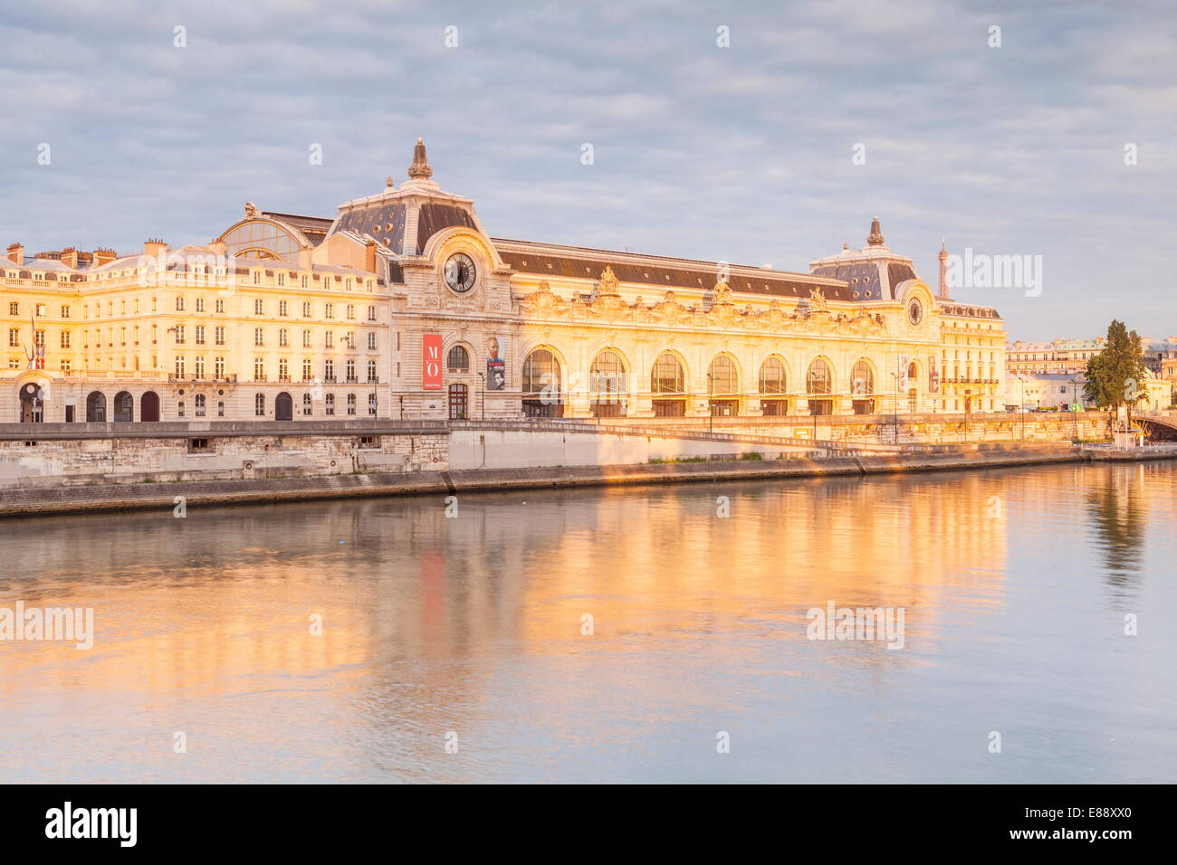 Musee d'Orsay on the River Seine, Paris, France, Europe - Stock Image