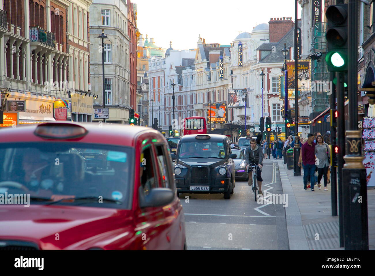 Shaftesbury Avenue, London, England, United Kingdom, Europe - Stock Image