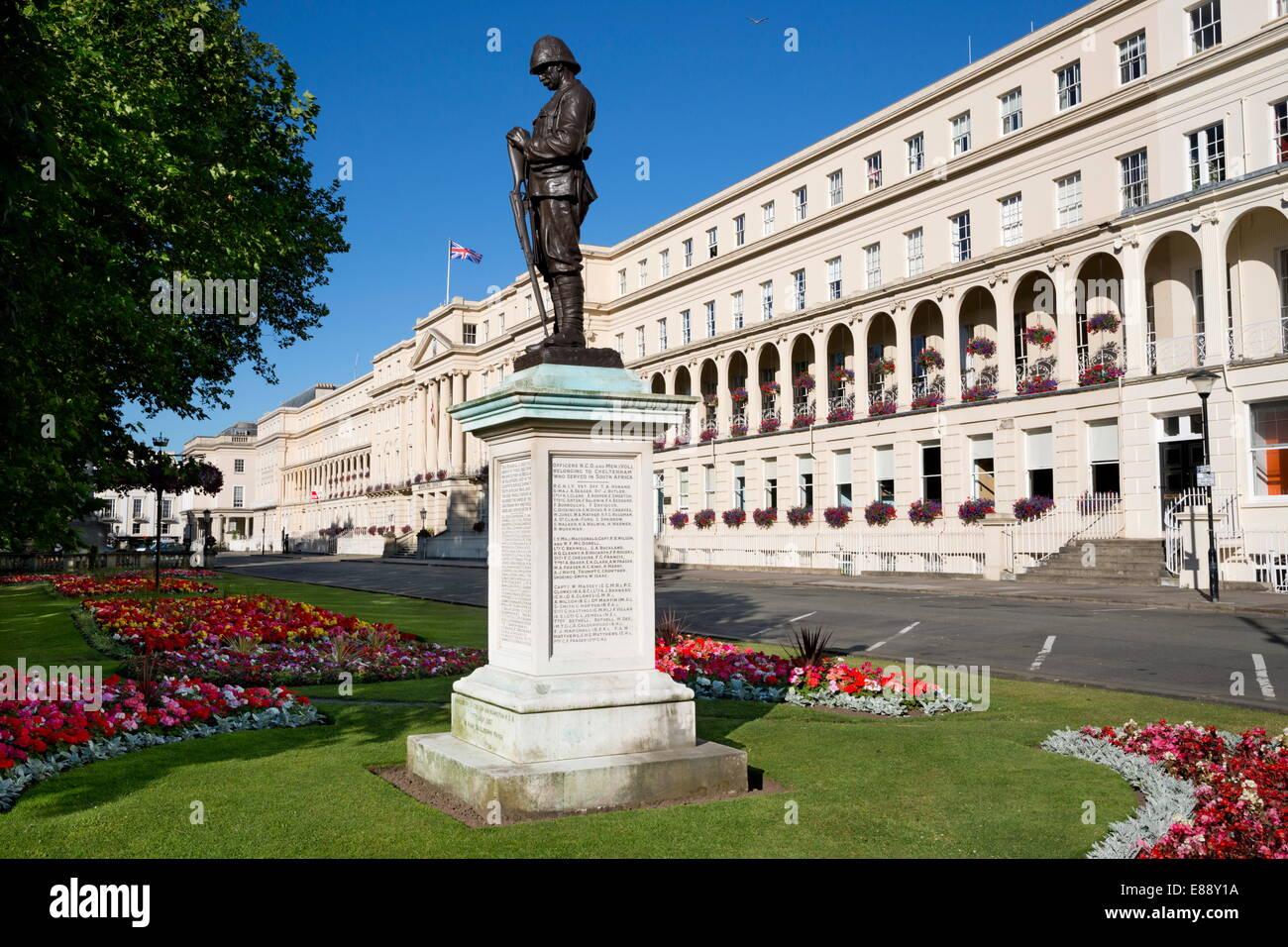 Boer War Memorial and Municipal Offices, The Promenade, Cheltenham, Gloucestershire, England, United Kingdom, Europe - Stock Image