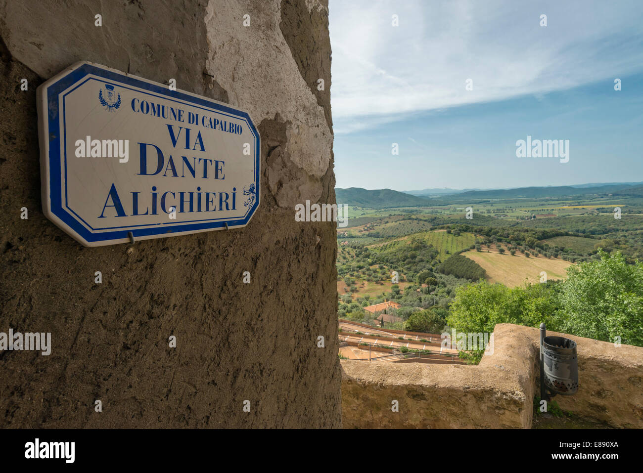 Houses and details of internal streets of Capalbio, Tuscany,Italy - Stock Image