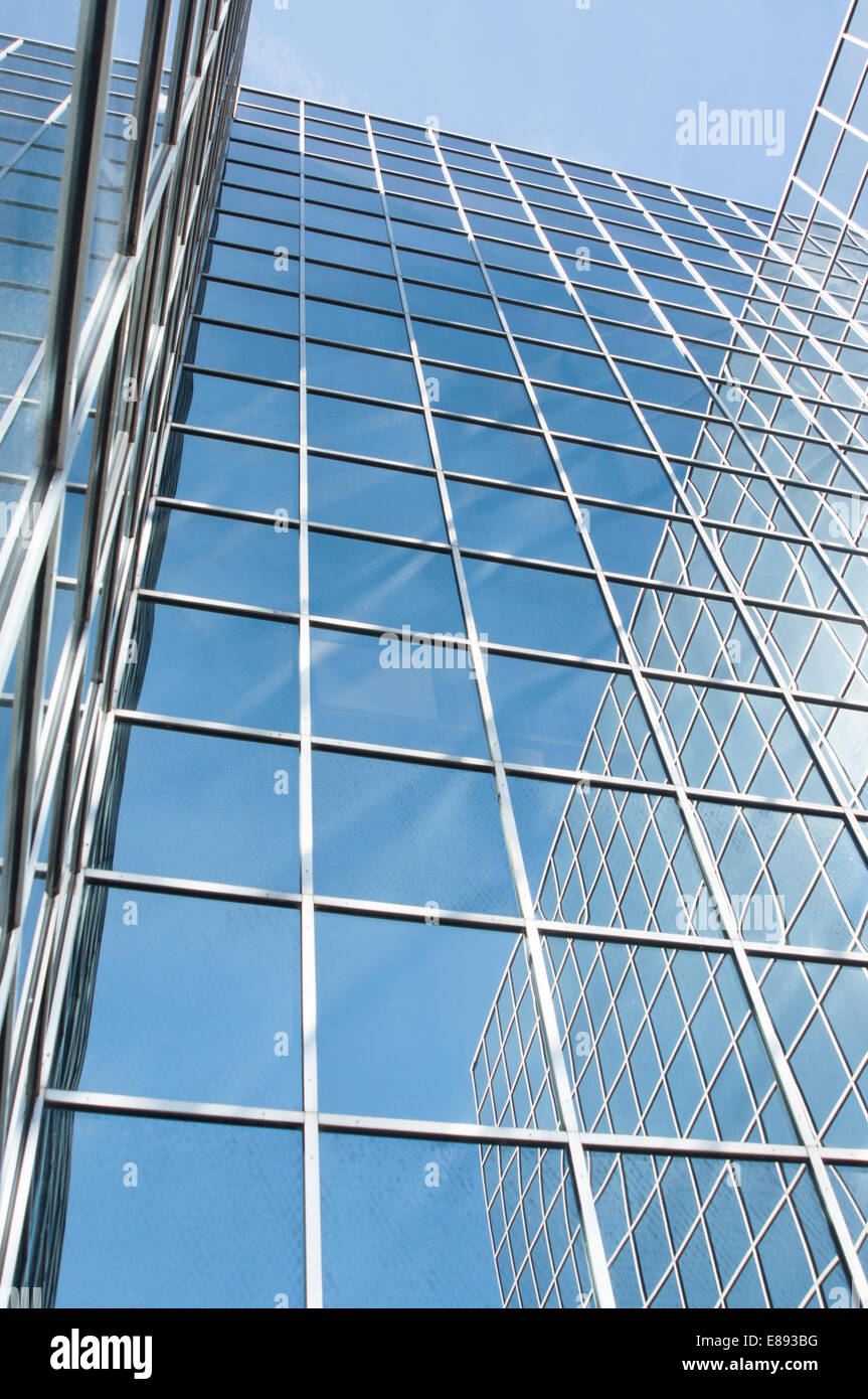 Astral Towers glass clad office building in Crawley - Stock Image