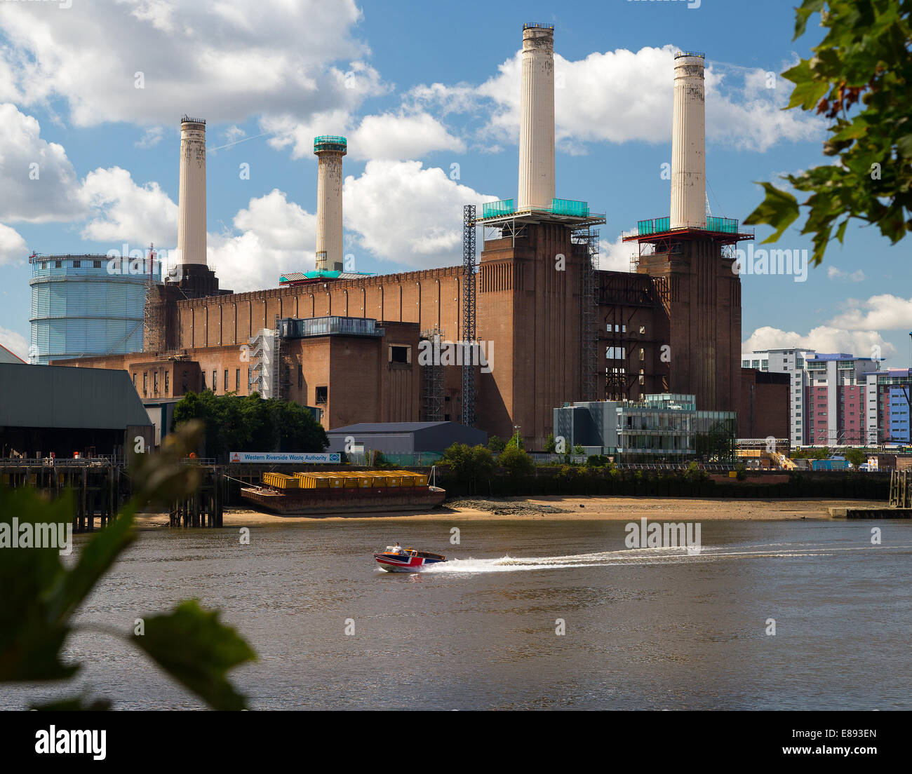 Battersea Power station designed by Sir Giles Gilbert Scott-opened in 1933.It was a coal fired power station,now - Stock Image