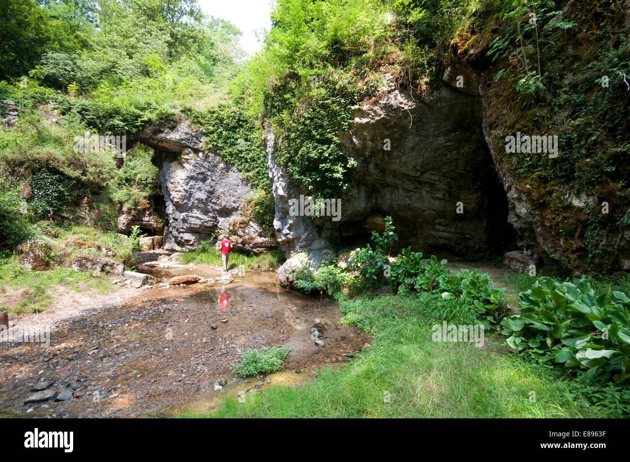 Italy, Piedmont, Ara, Grotte di Ara, Caves Ara - Stock Image