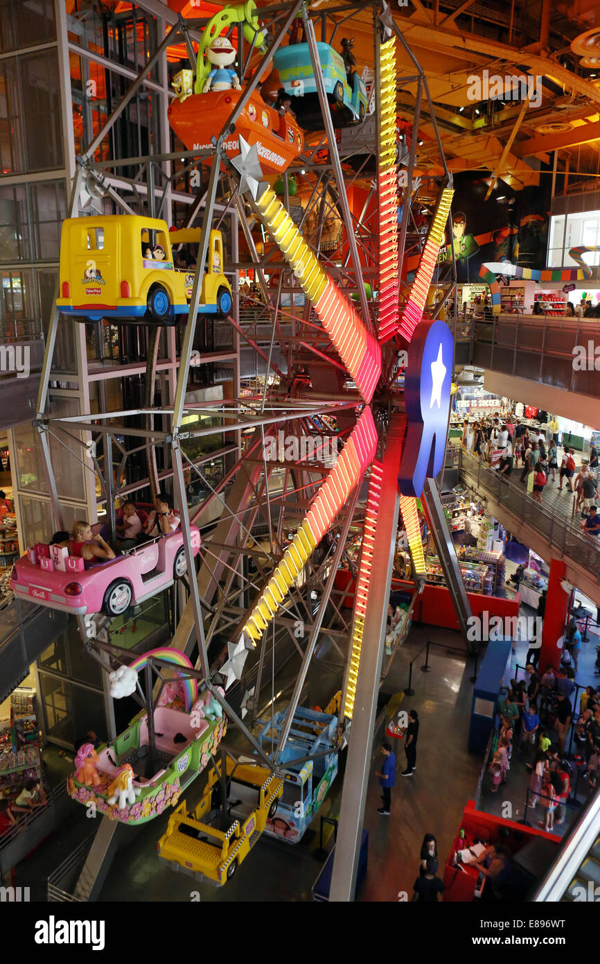 New York City, USA, Ferris Wheel At Toys-R-Us Store At