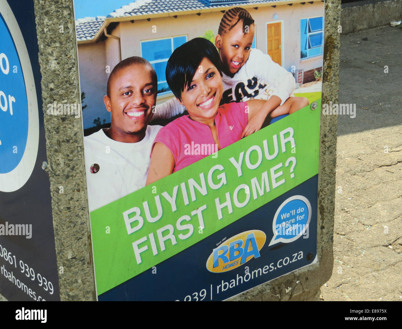 RBA HOMES poster in Polokwane, South Africa. Photo Tony Gale - Stock Image