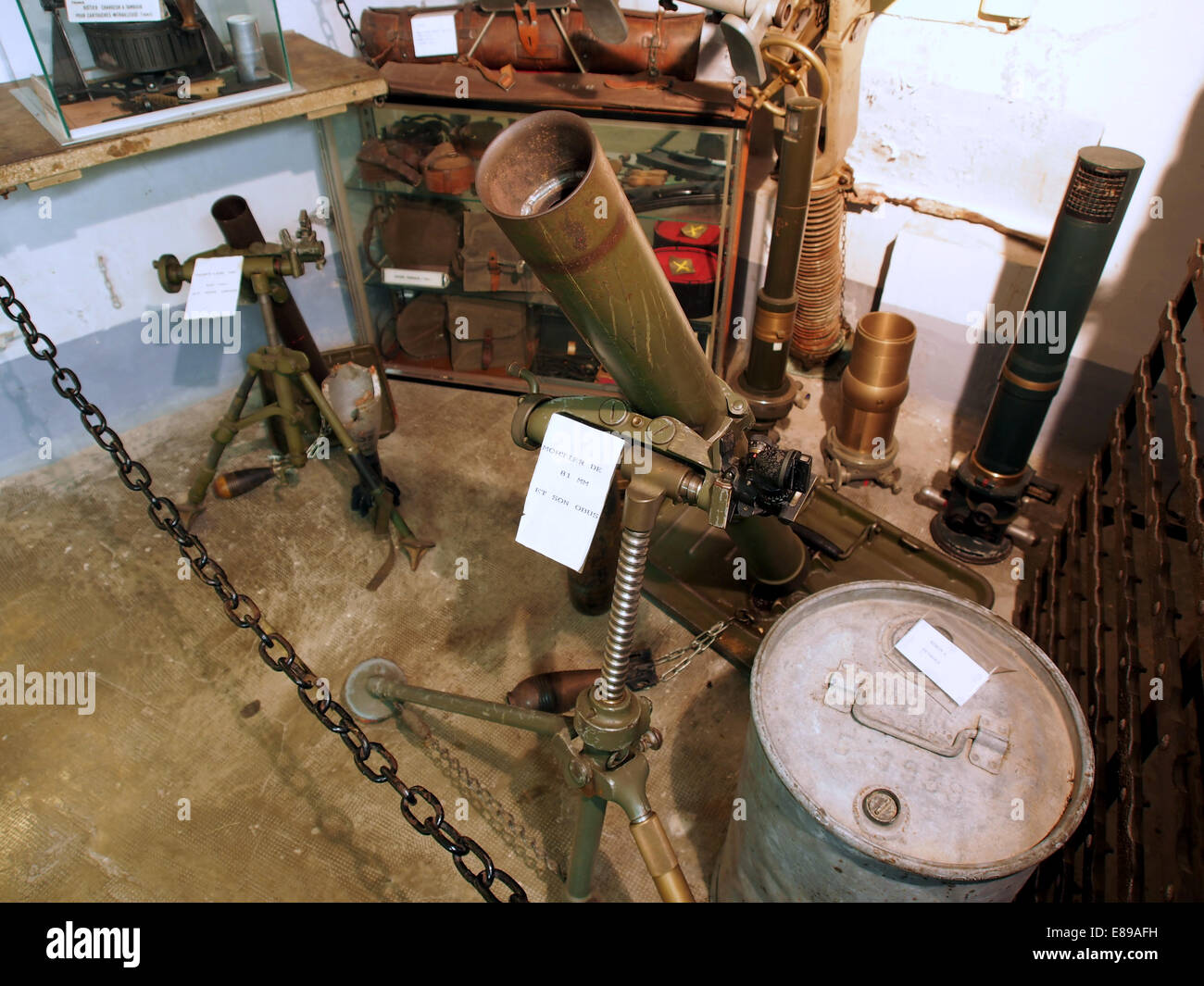 Mortier de 81mm420mm Marckolsheim, photo 1 - Stock Image