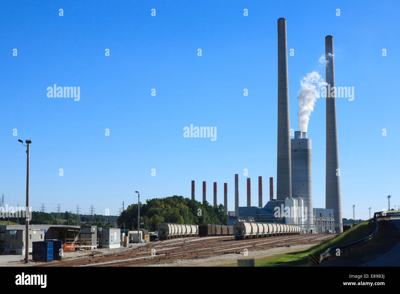 Tennessee Valley Authority Kingston Fossil steam power plant at Kingston Tennessee - Stock Image