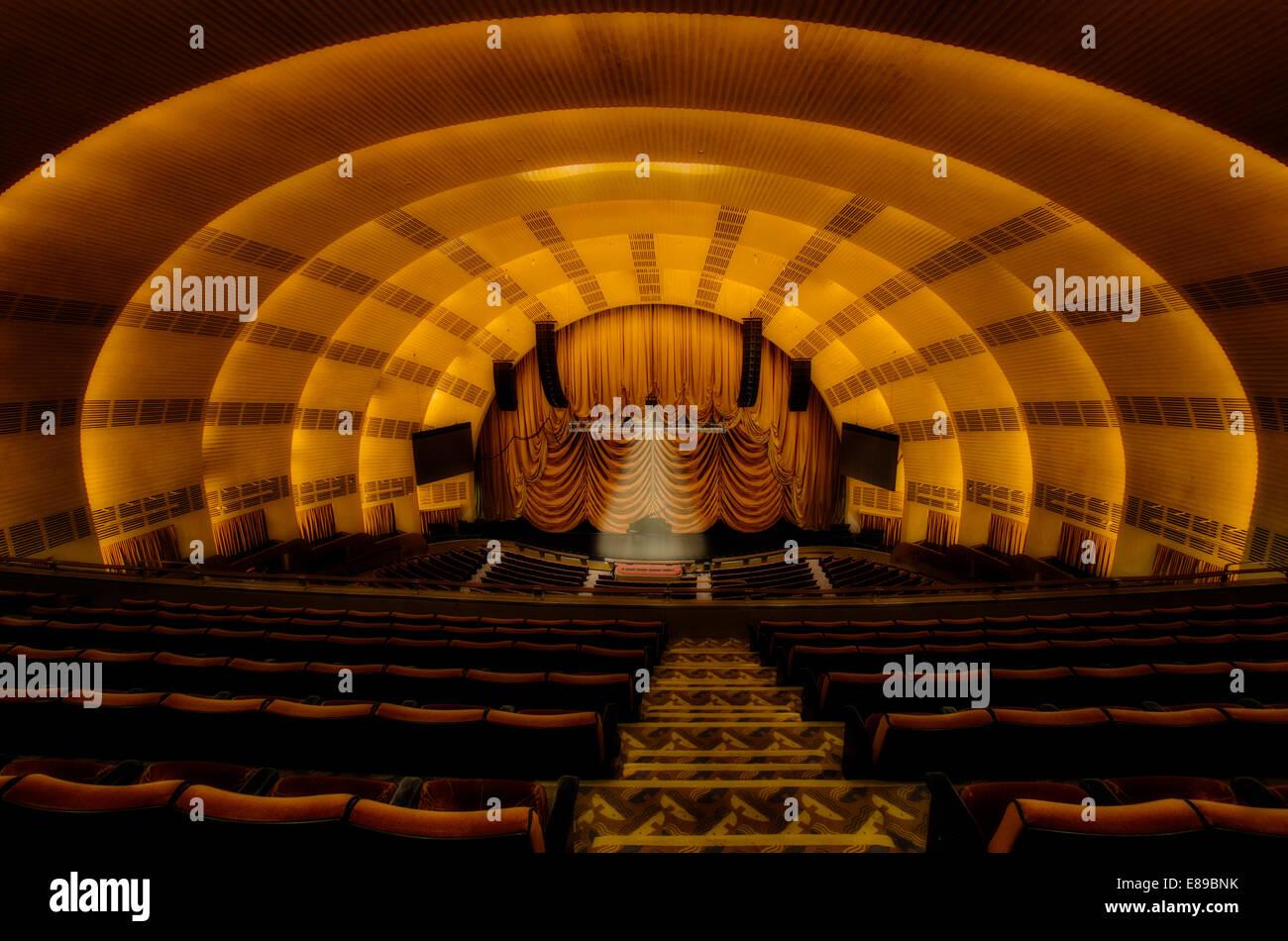 The Iconic interior of Radio City Music Hall theater in midtown Manhattan New York City. - Stock Image