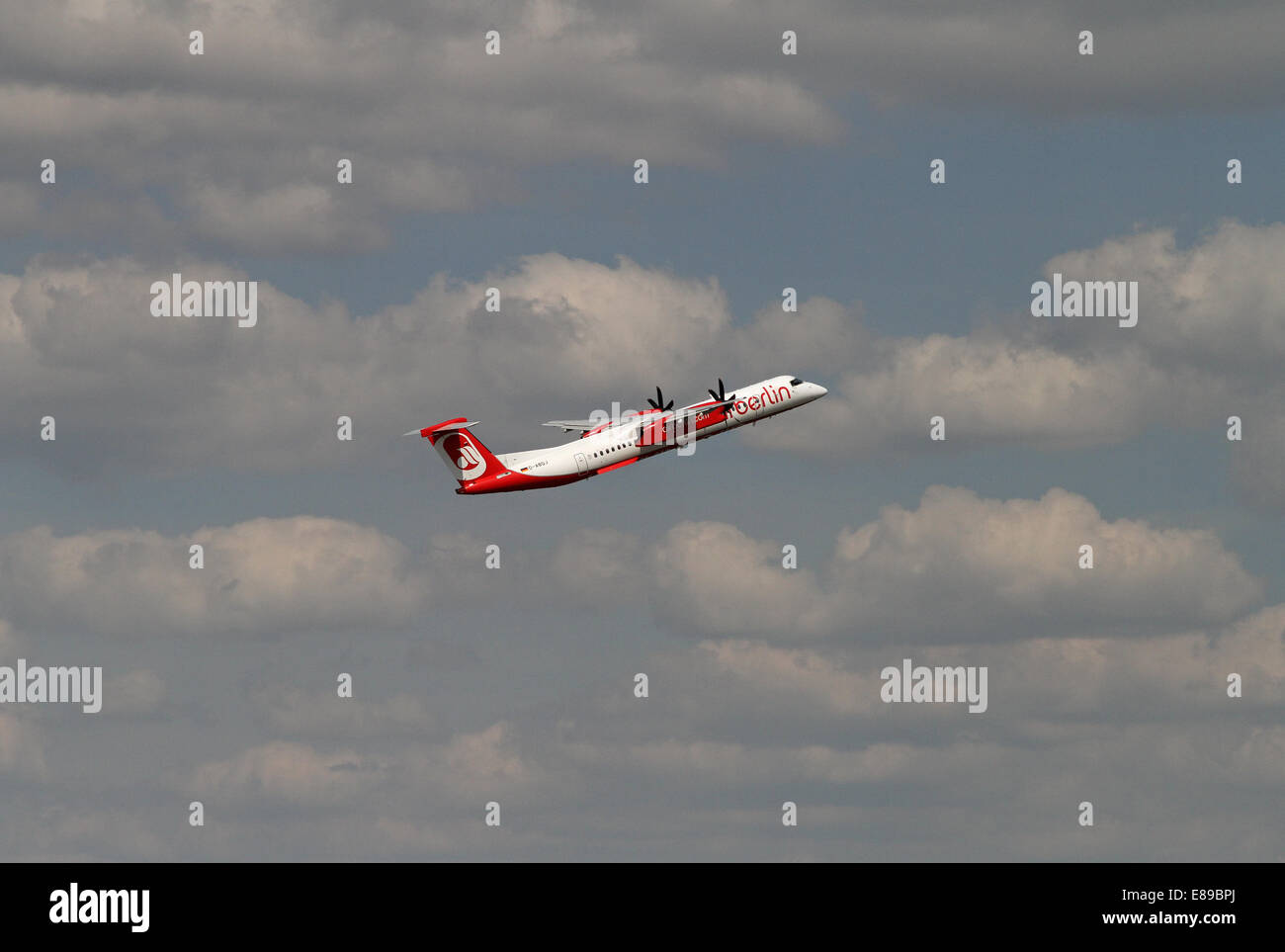 Berlin, Germany, Bombardier Dash 8Q-400 Air Berlin - Stock Image