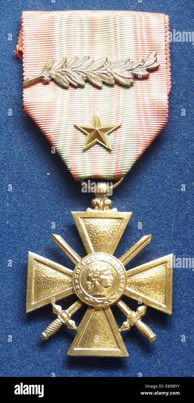 Medal at Casemate 35-3 - Marckolsheim - Stock Image