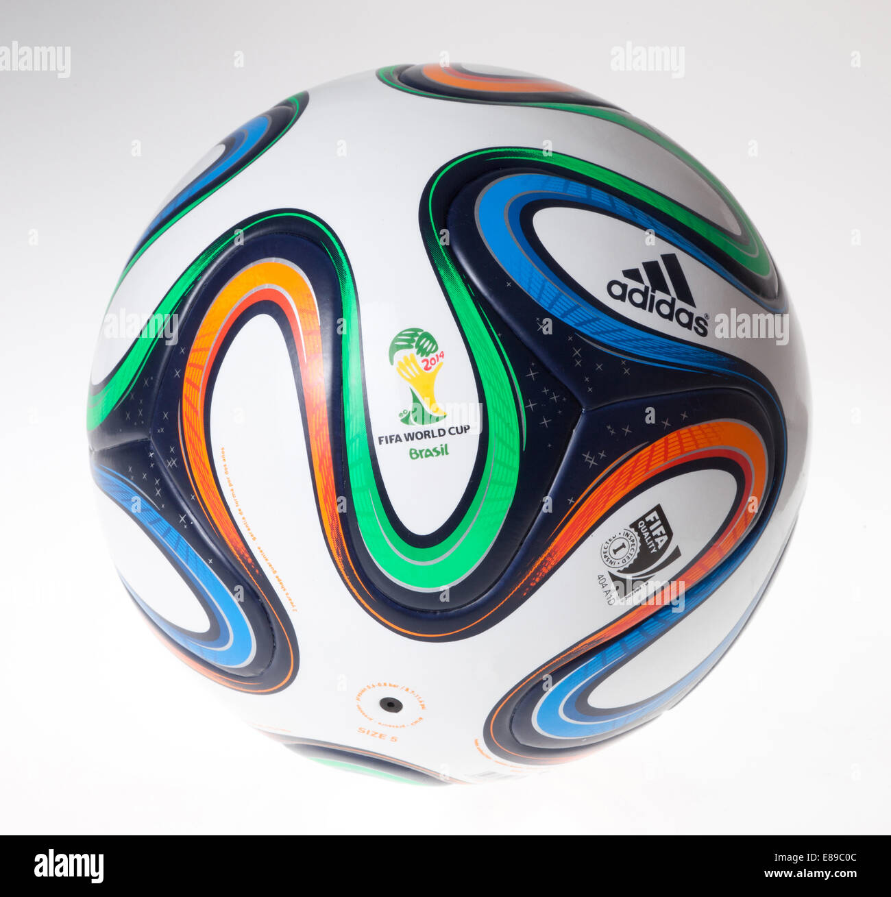 Berlin, Germany, the official match ball of the FIFA World Cup Brazil 2014 - Stock Image