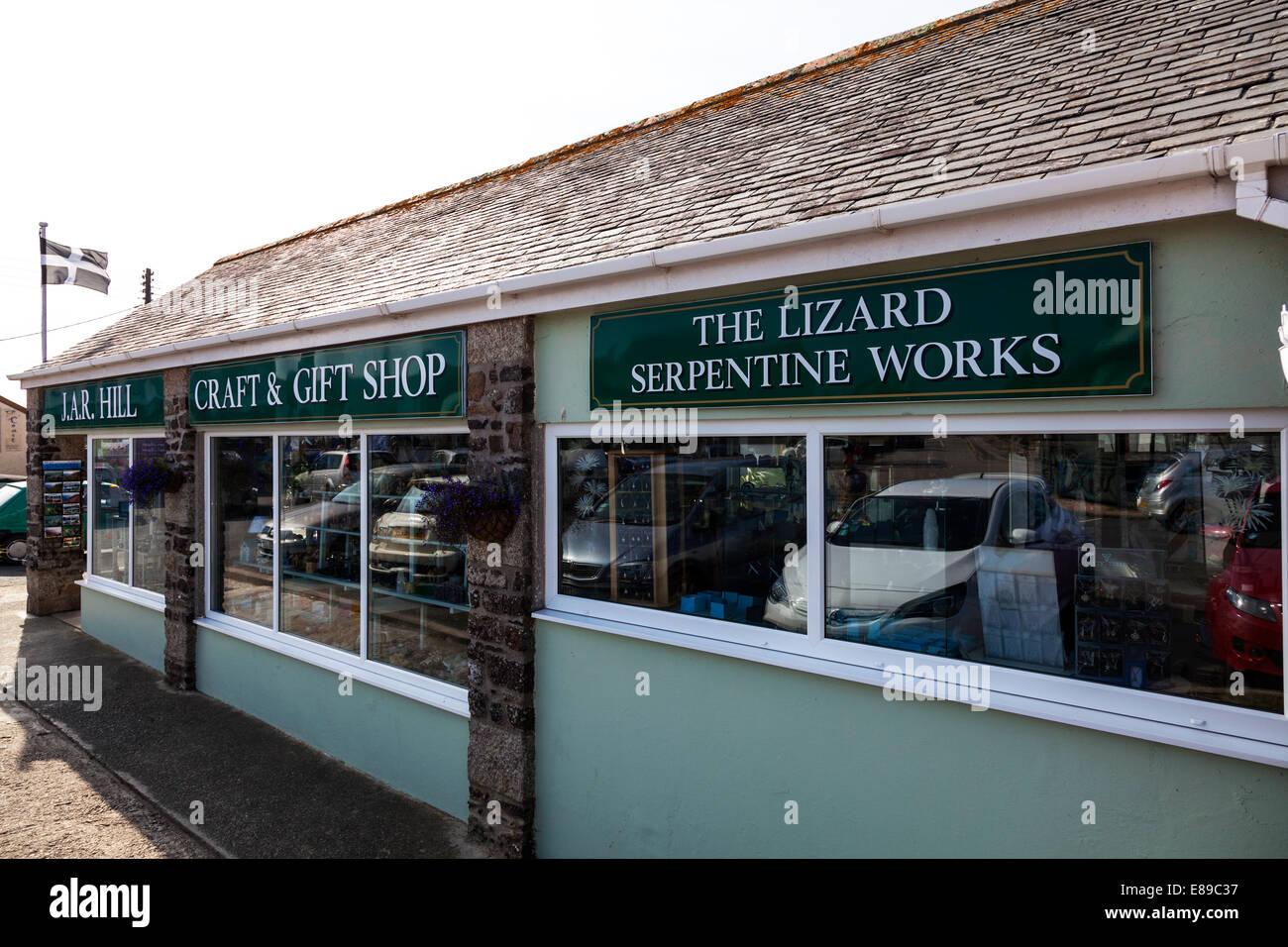 The Lizard serpentine works shop selling gifts Cornwall Cornish UK workshop stone rock mineral