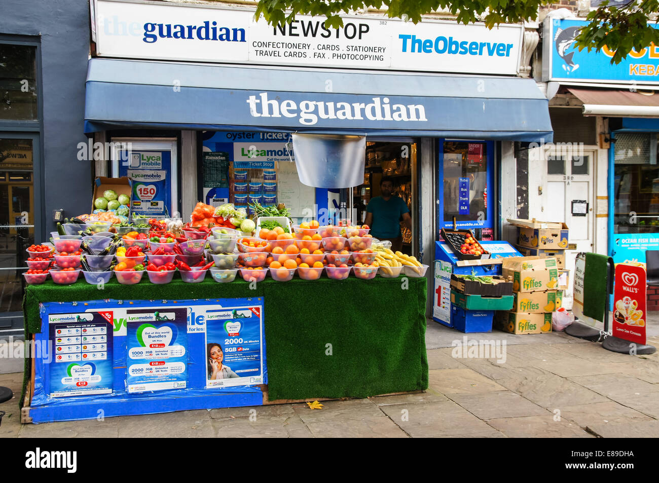 A grocery store on Caledonian Road, London England United Kingdom UK - Stock Image
