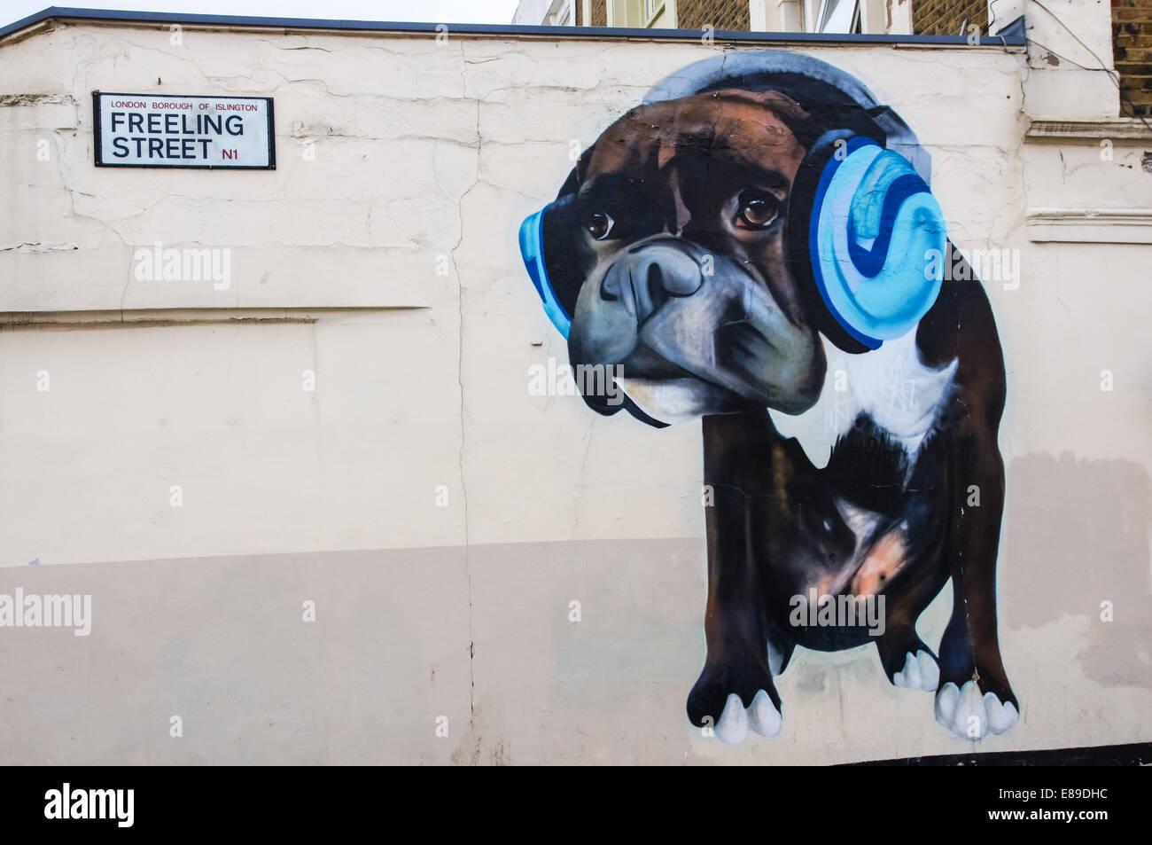 Graffiti on RSPCA shop on Caledonian Road  London England United Kingdom UK - Stock Image