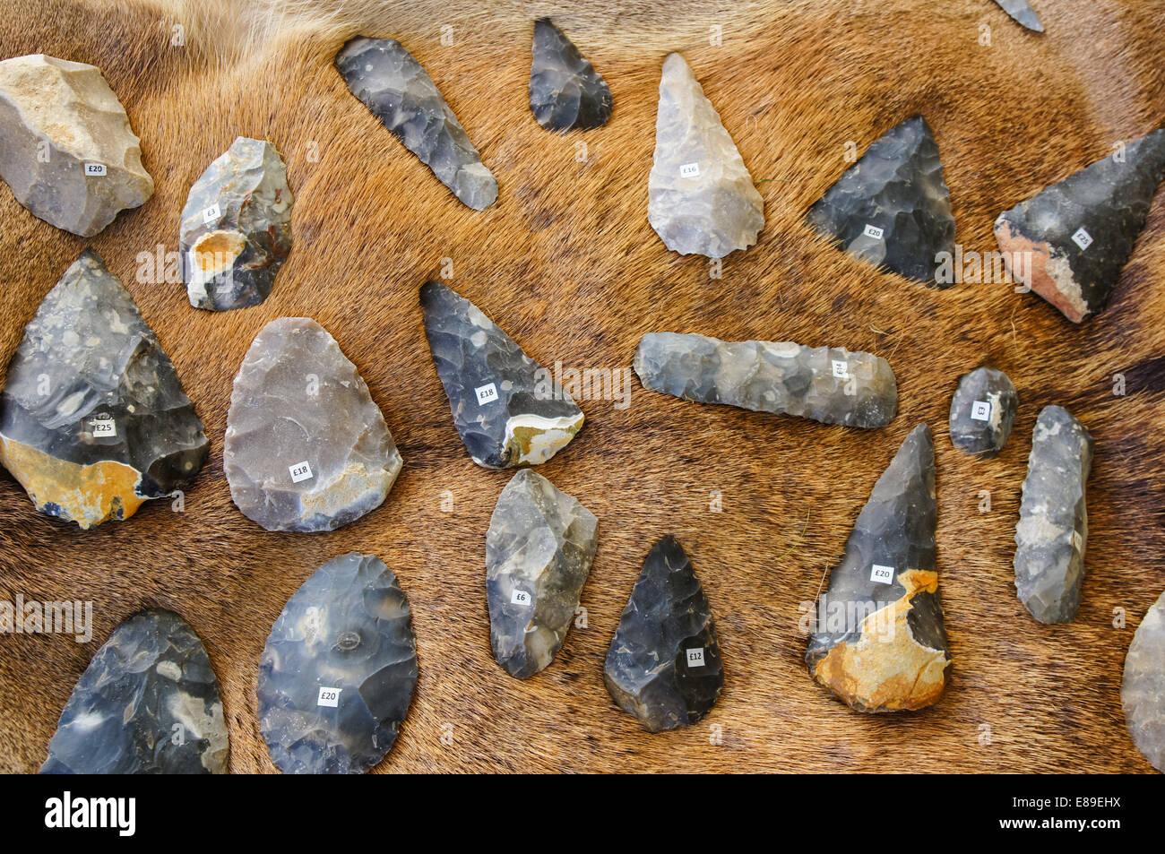Archeology display at Countryside Live show, London England United Kingdom UK - Stock Image