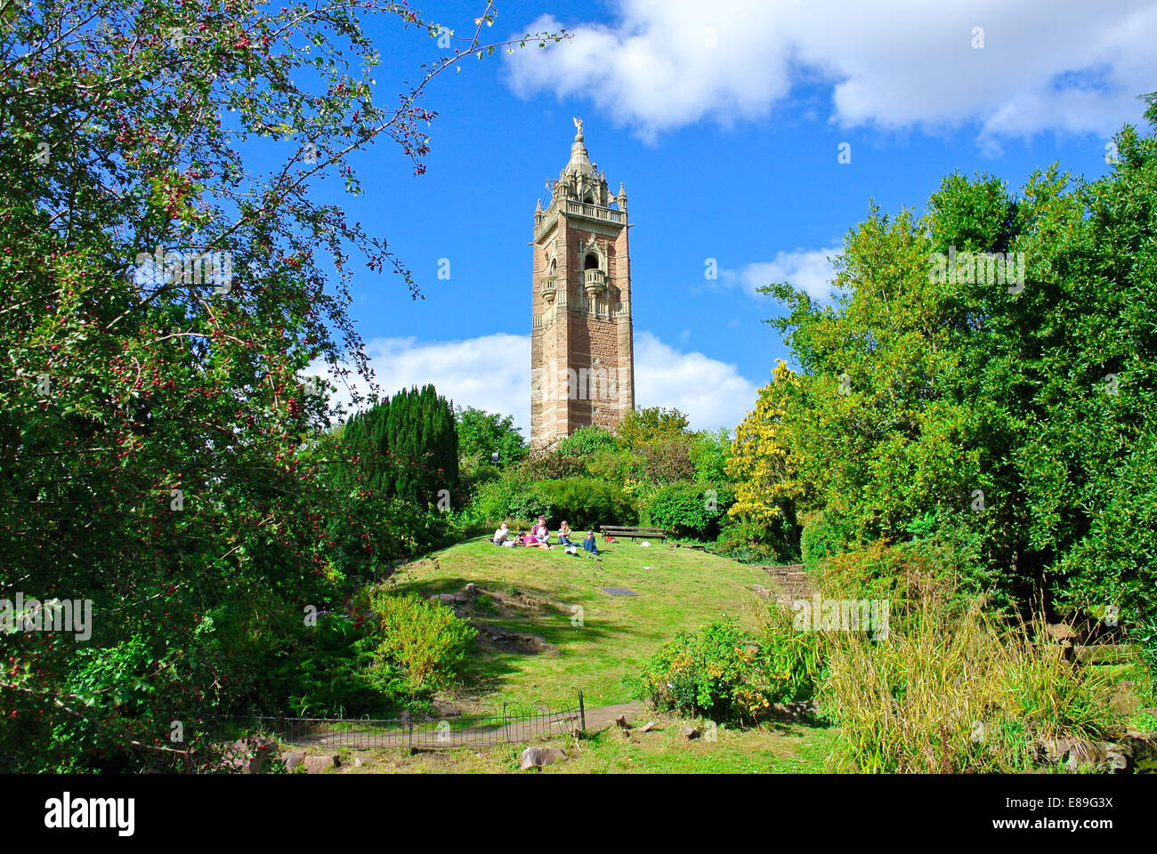 Cabot Tower Brandon Hill Park Bristol - Stock Image