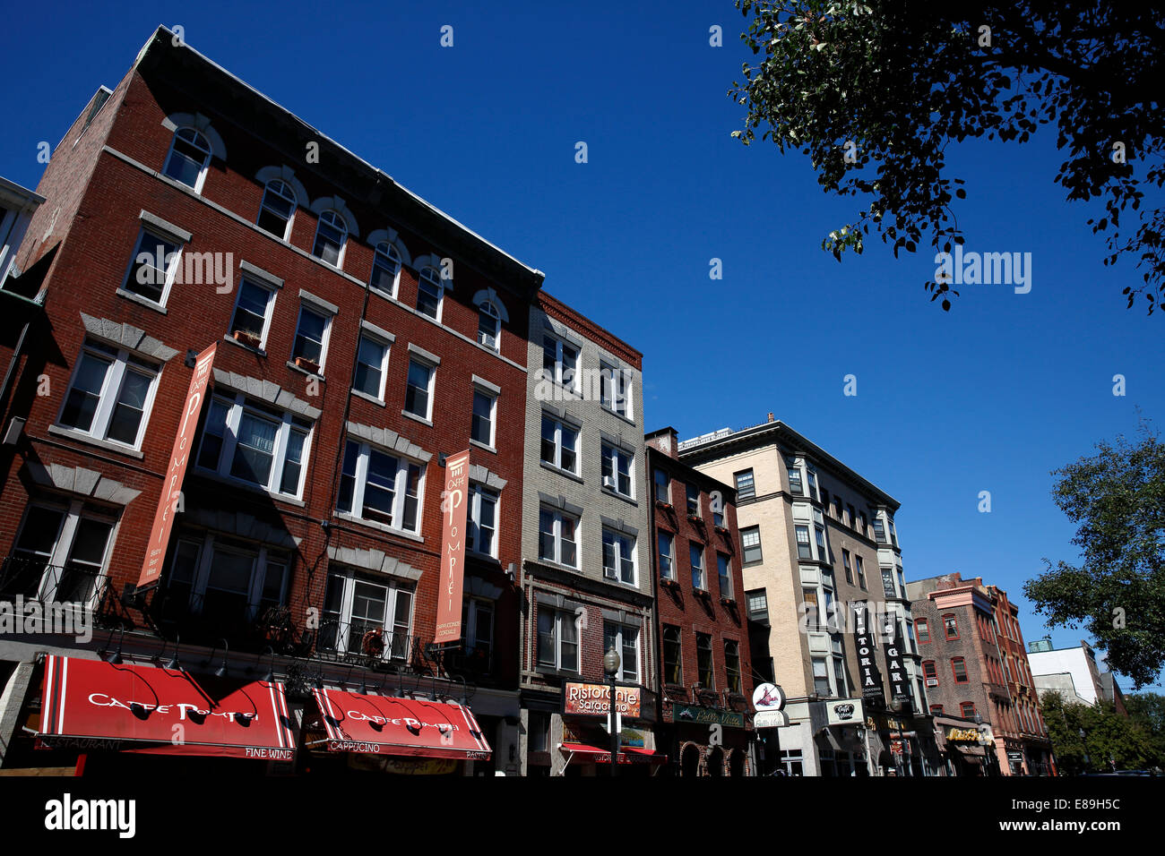 Hanover Street, North End, Boston, Massachusetts, USA - Stock Image
