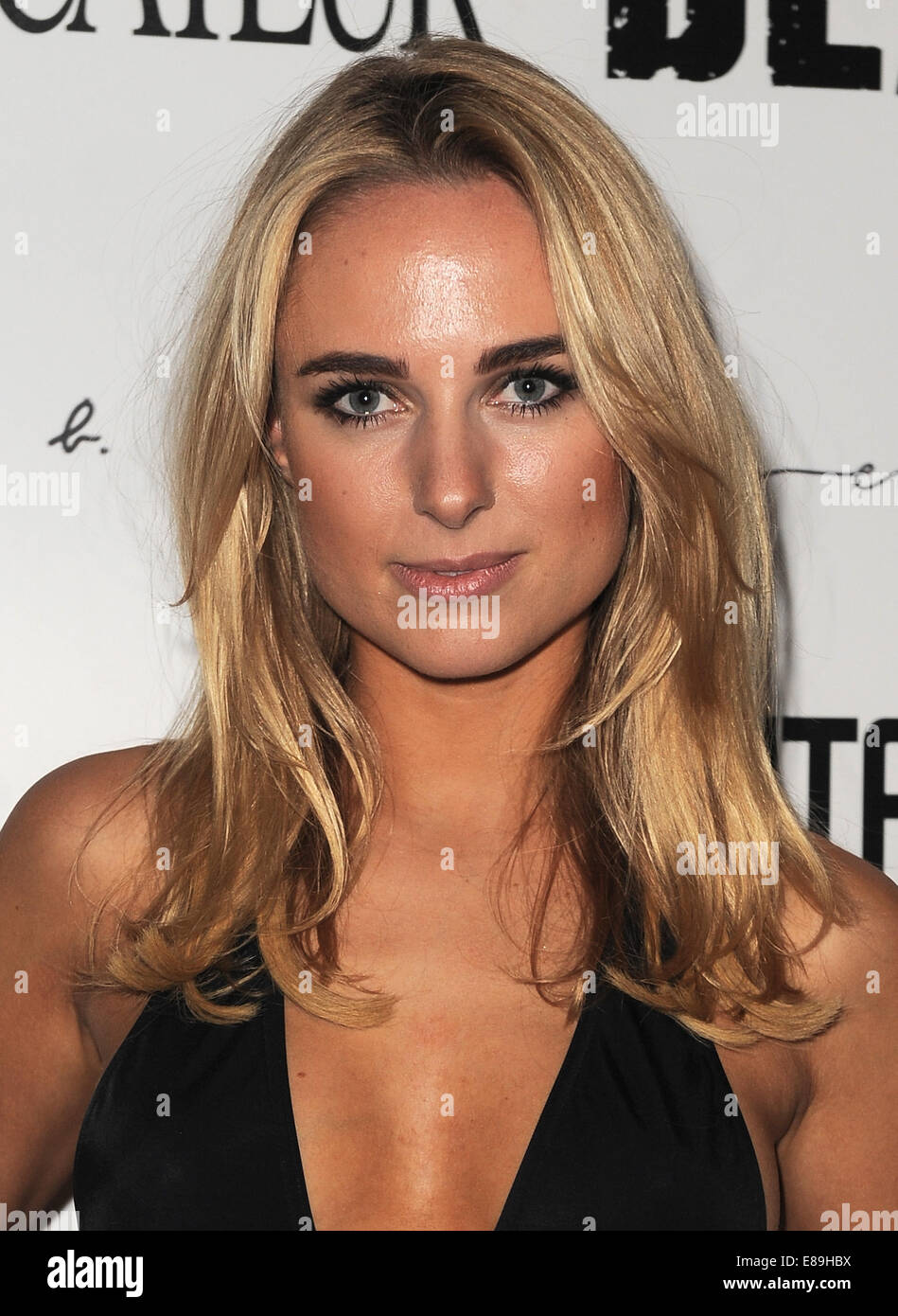 London, UK. 2nd Oct, 2014. Kimberley Garner attends Tyler Shields: Provocateur - private view at Imitate Modern. - Stock Image
