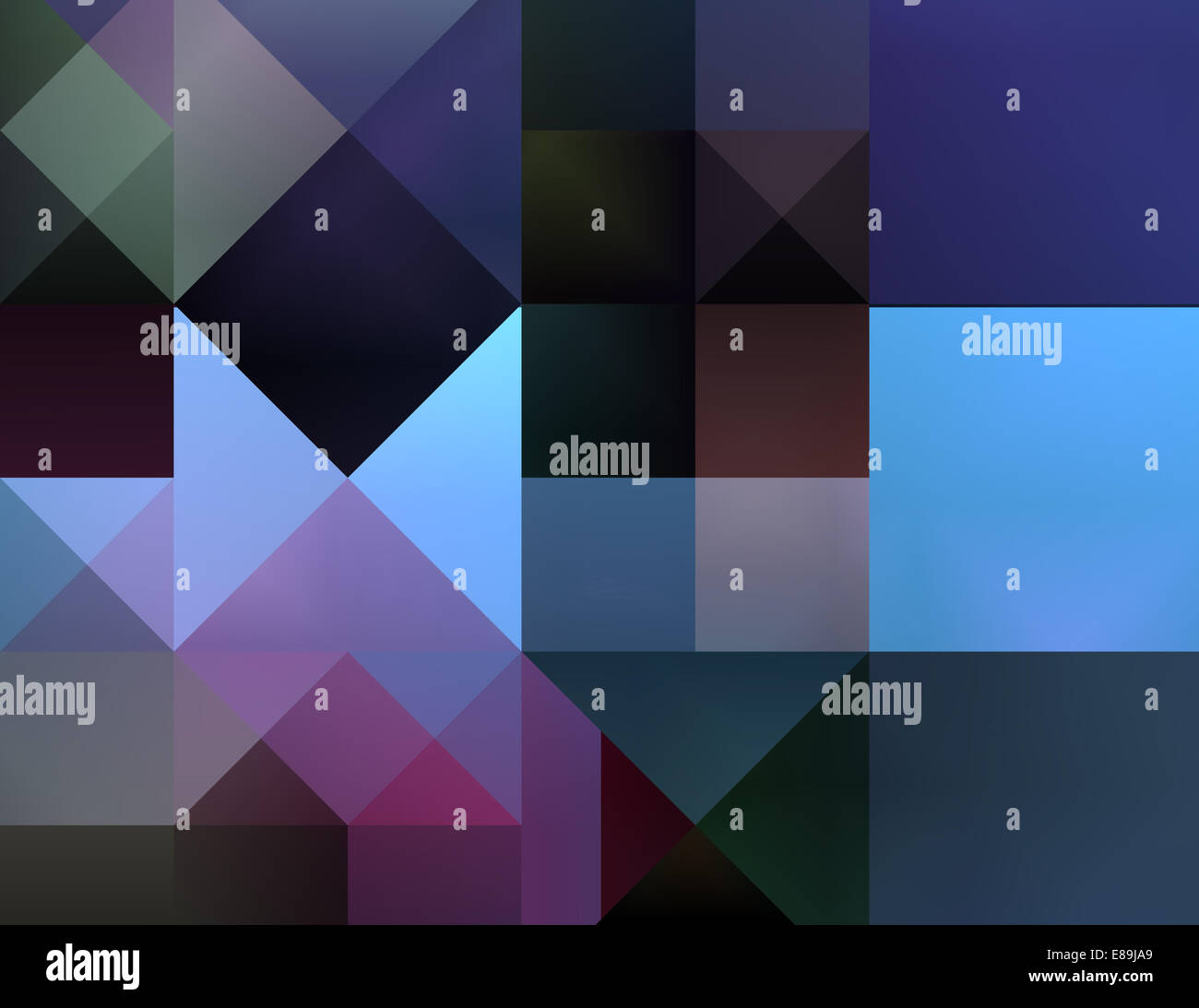 Abstract background artistic gradient dynamic square pattern - Stock Image