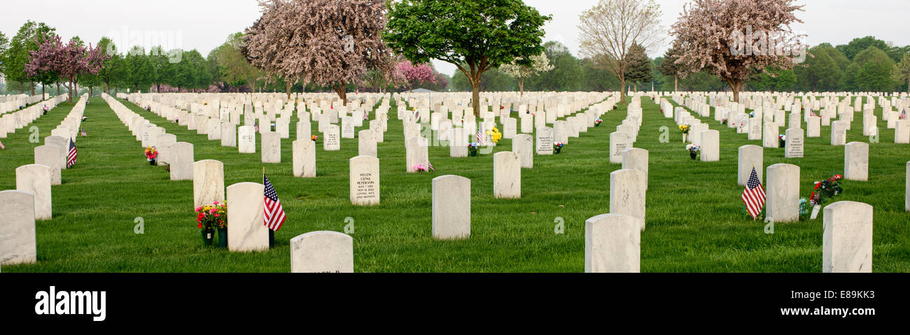 Grave Markers At Fort Snelling National Cemetery In St Paul