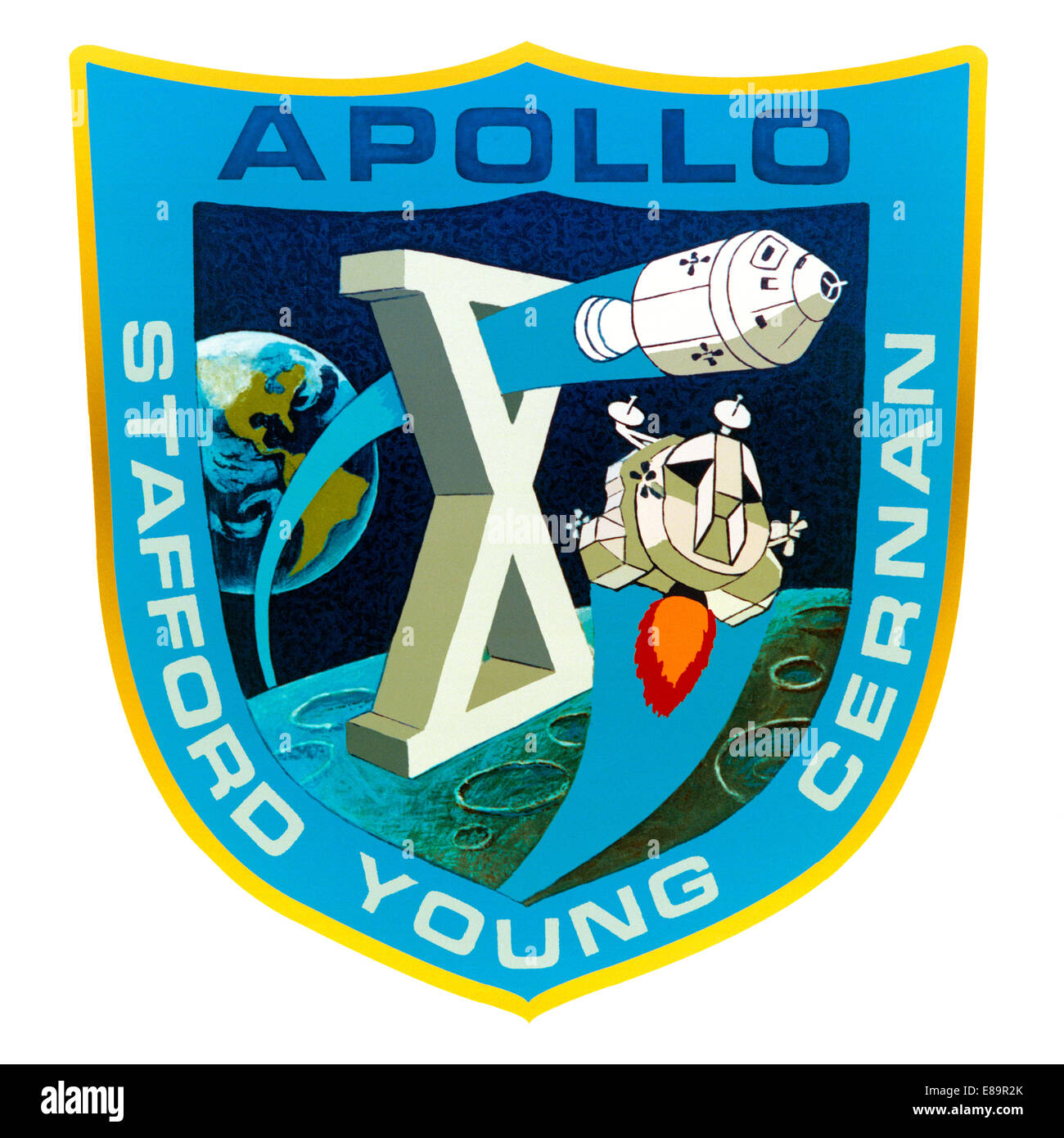 Apollo 10 mission patch - Stock Image